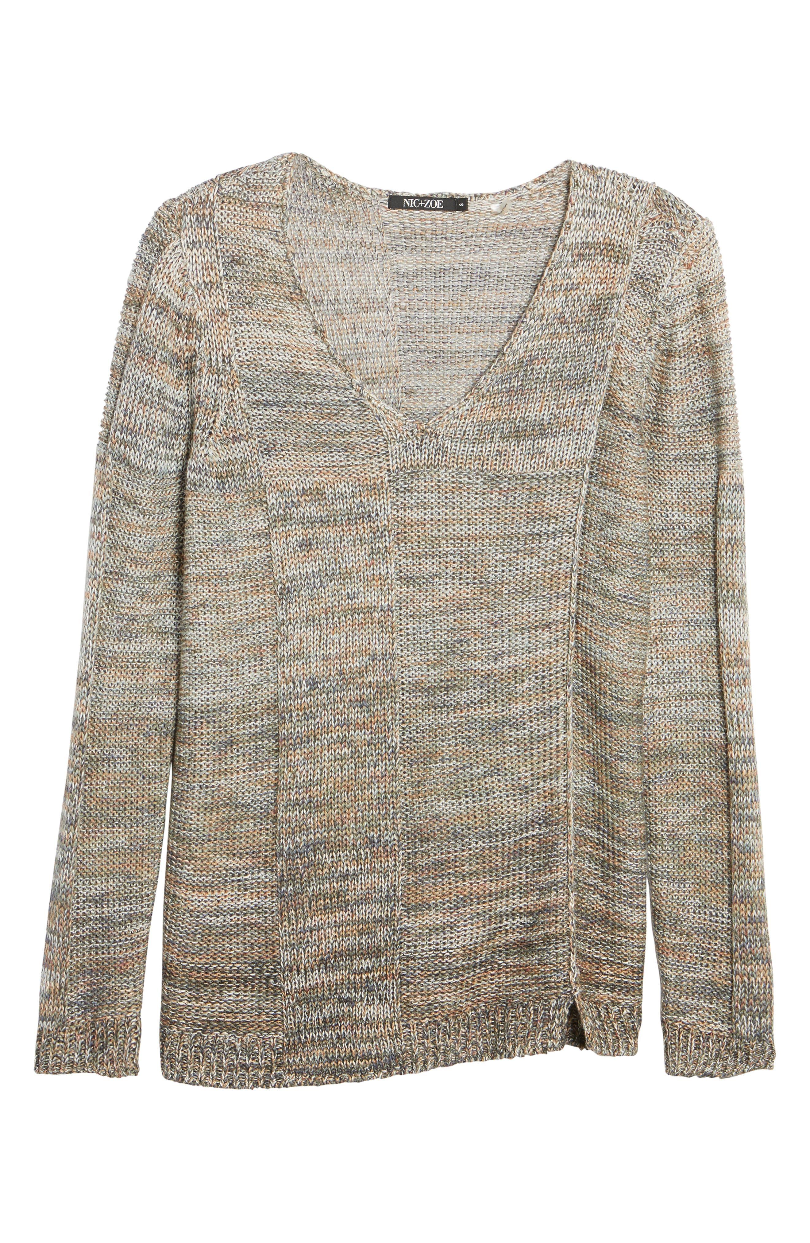 Textured Ombré Sweater,                             Alternate thumbnail 6, color,                             Multi