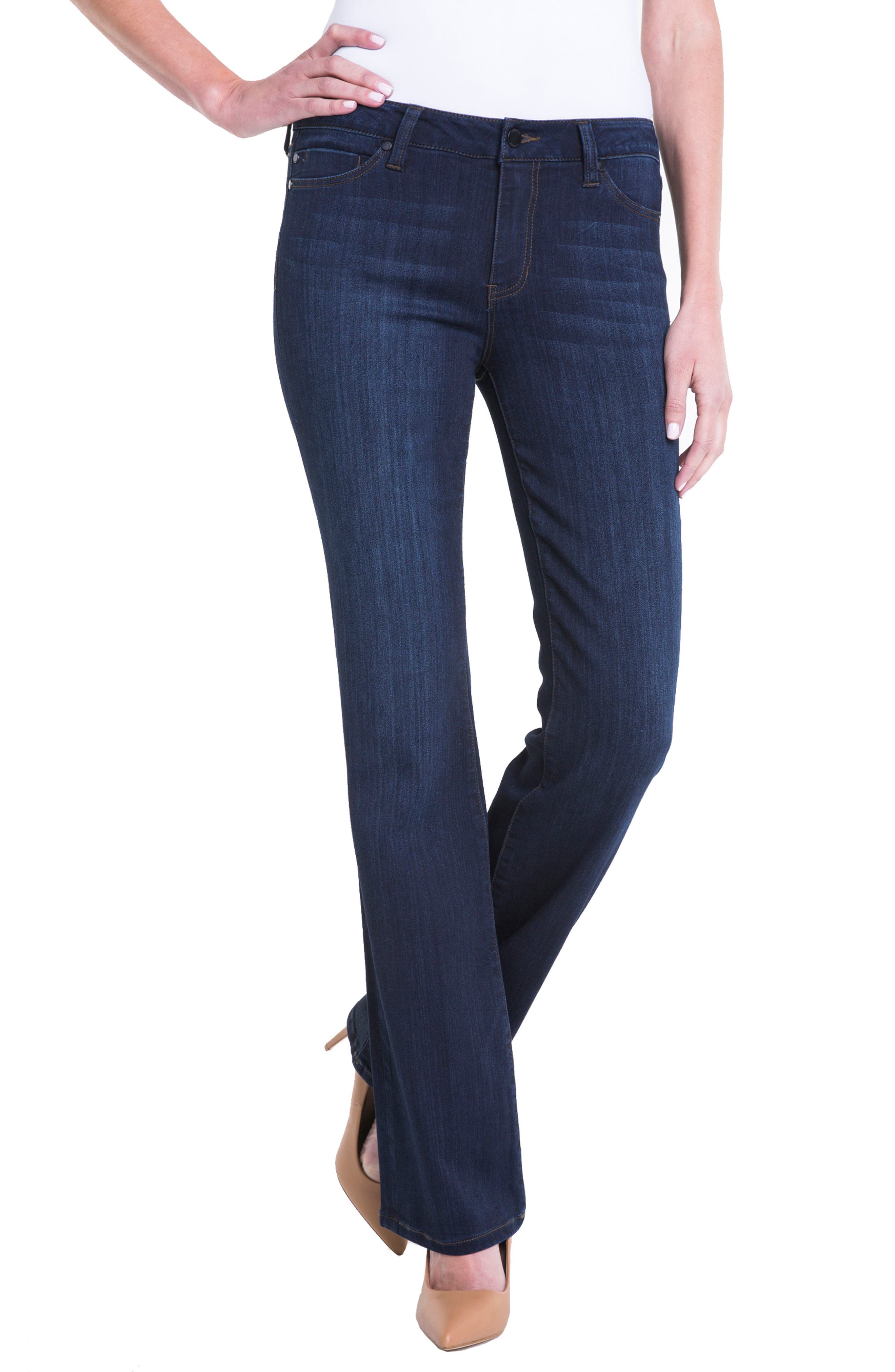 Lucy Bootcut Jeans,                             Alternate thumbnail 3, color,                             Dunmore Dark
