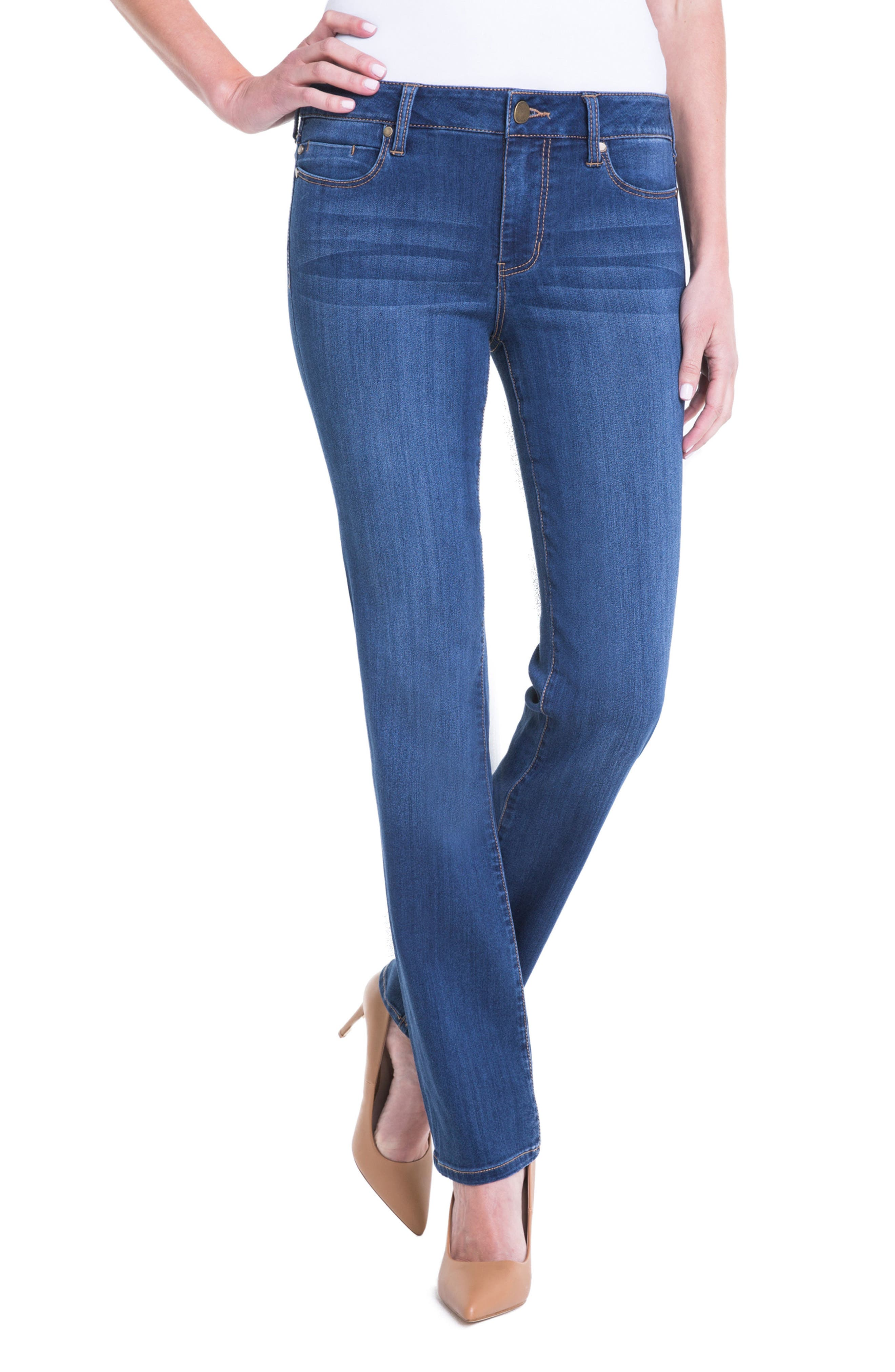 Alternate Image 1 Selected - Liverpool Jeans Company Sadie Straight Leg Jeans (Helms)