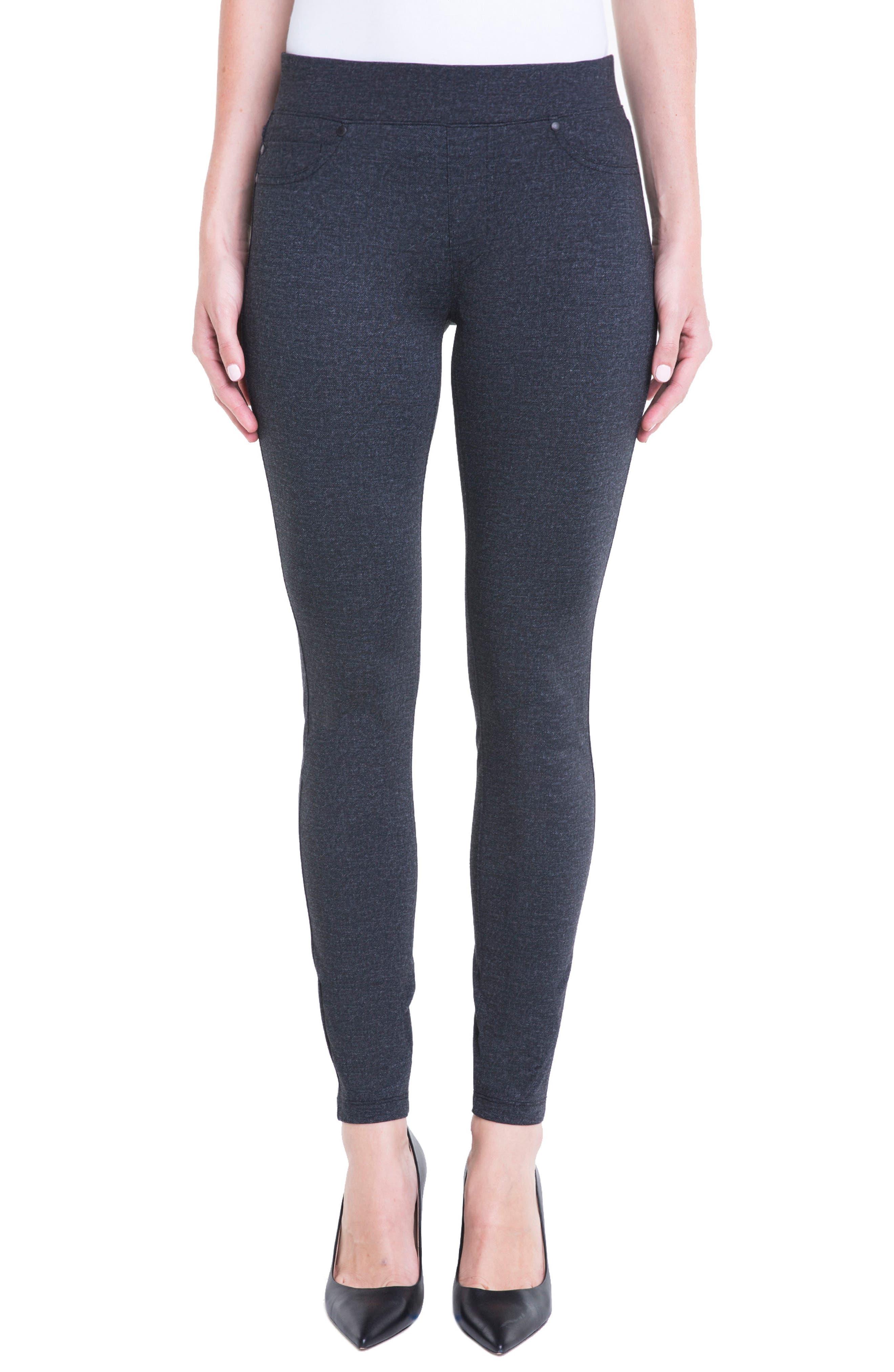 Sienna Denim Knit Leggings,                         Main,                         color, Grey Heather Tweed