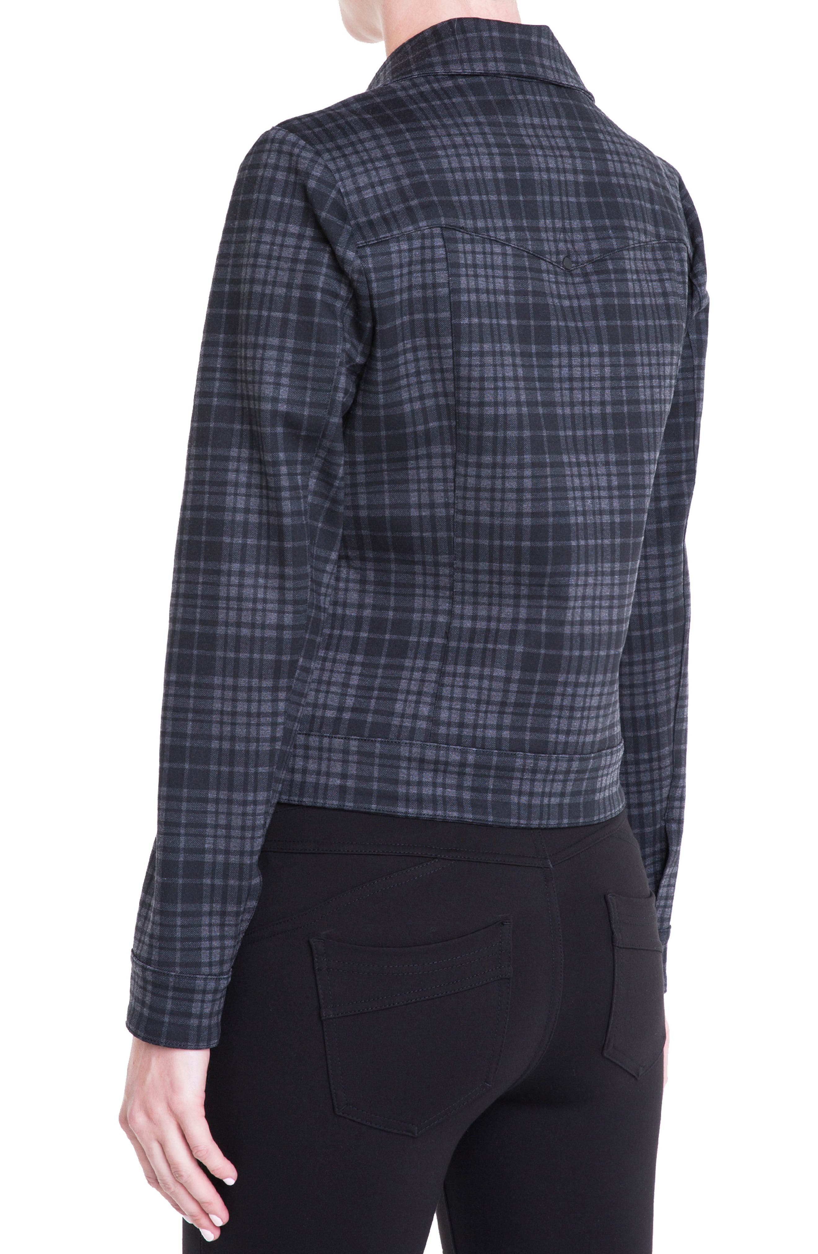 Alternate Image 2  - Liverpool Jeans Company Plaid Moto Jacket