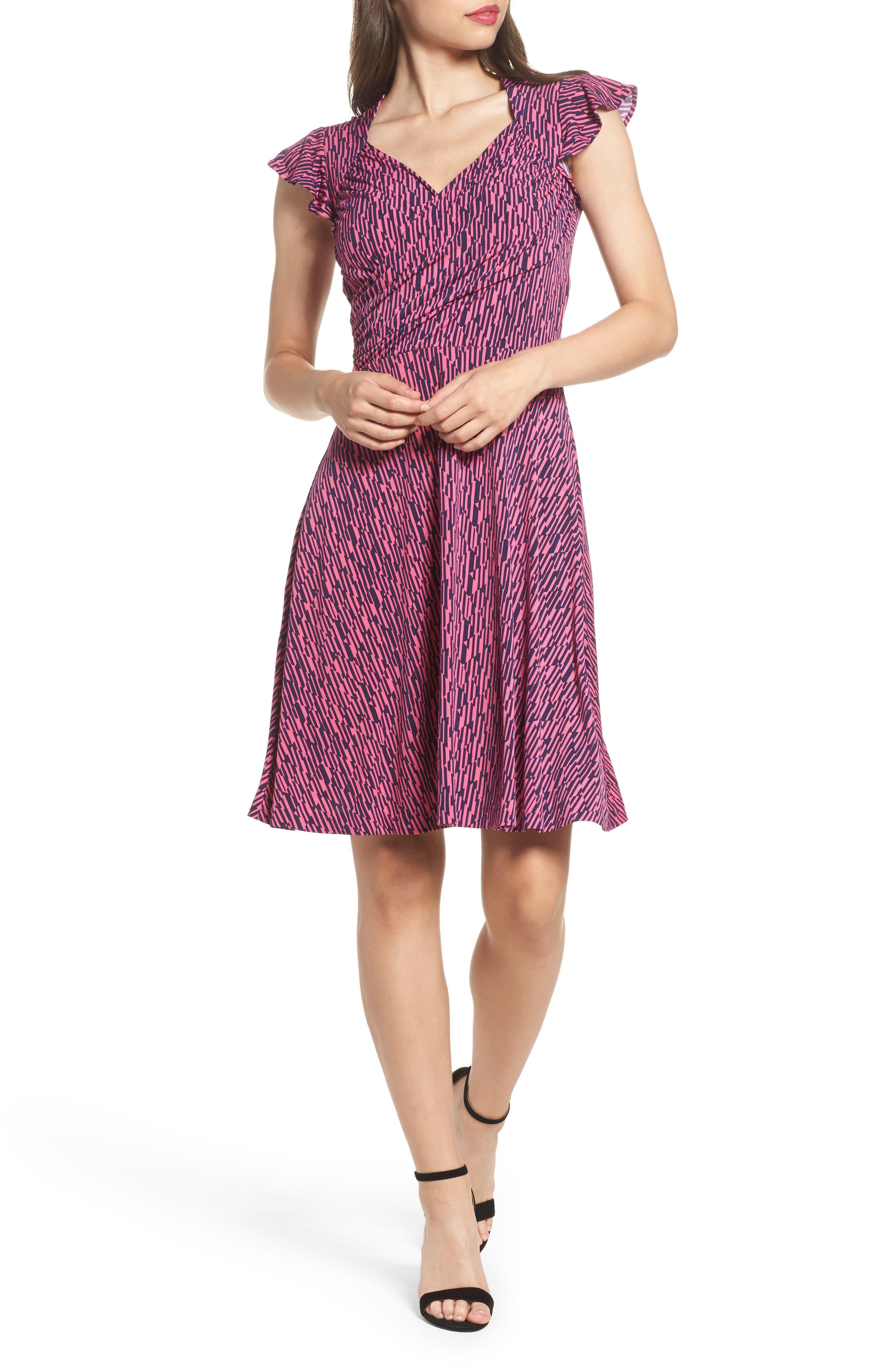 Leota Print Fit & Flare Dress