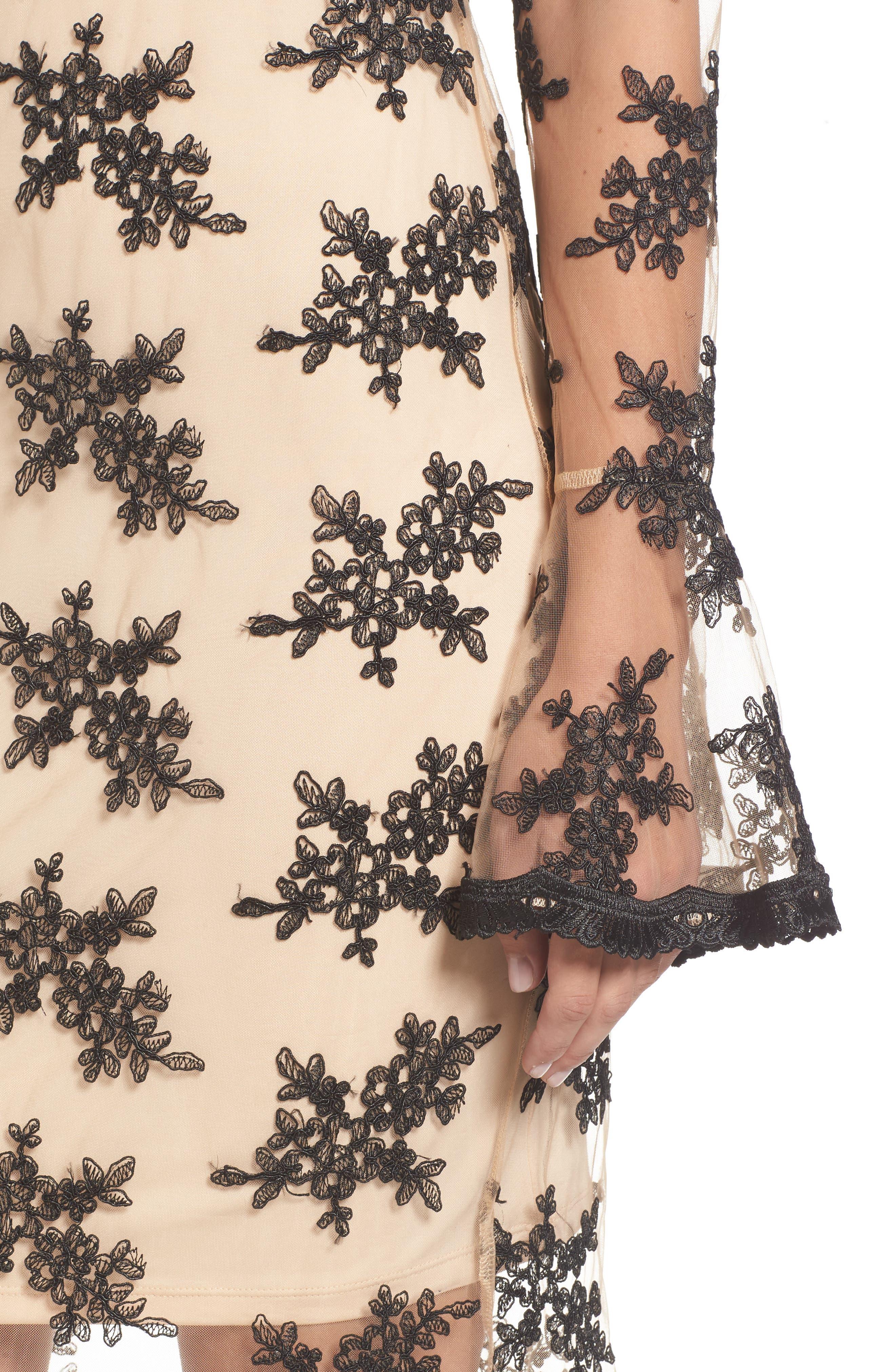 Desh Embroidered Dress,                             Alternate thumbnail 4, color,                             Black