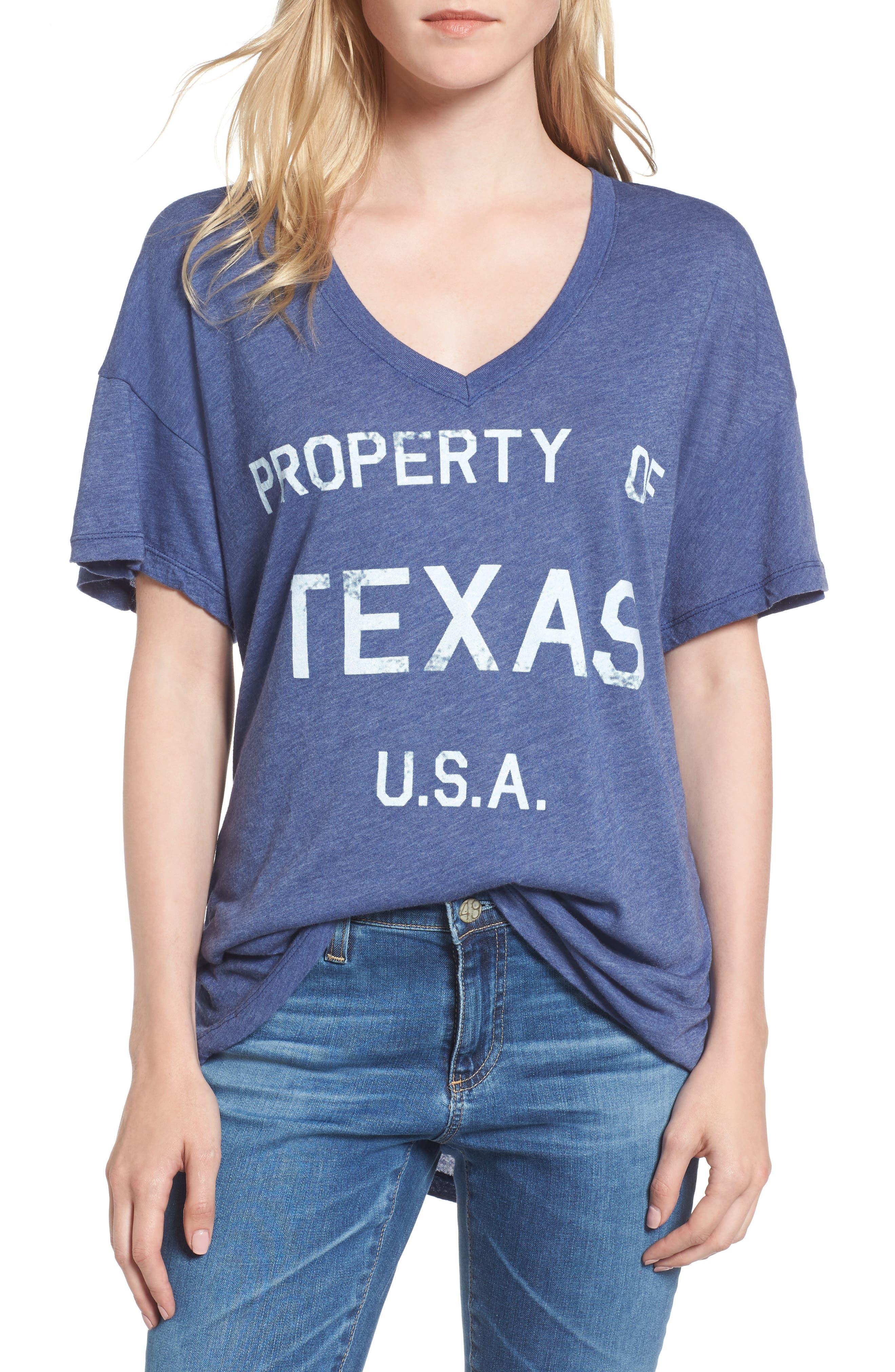 Property of Texas Tee,                         Main,                         color, Cowboy Blue