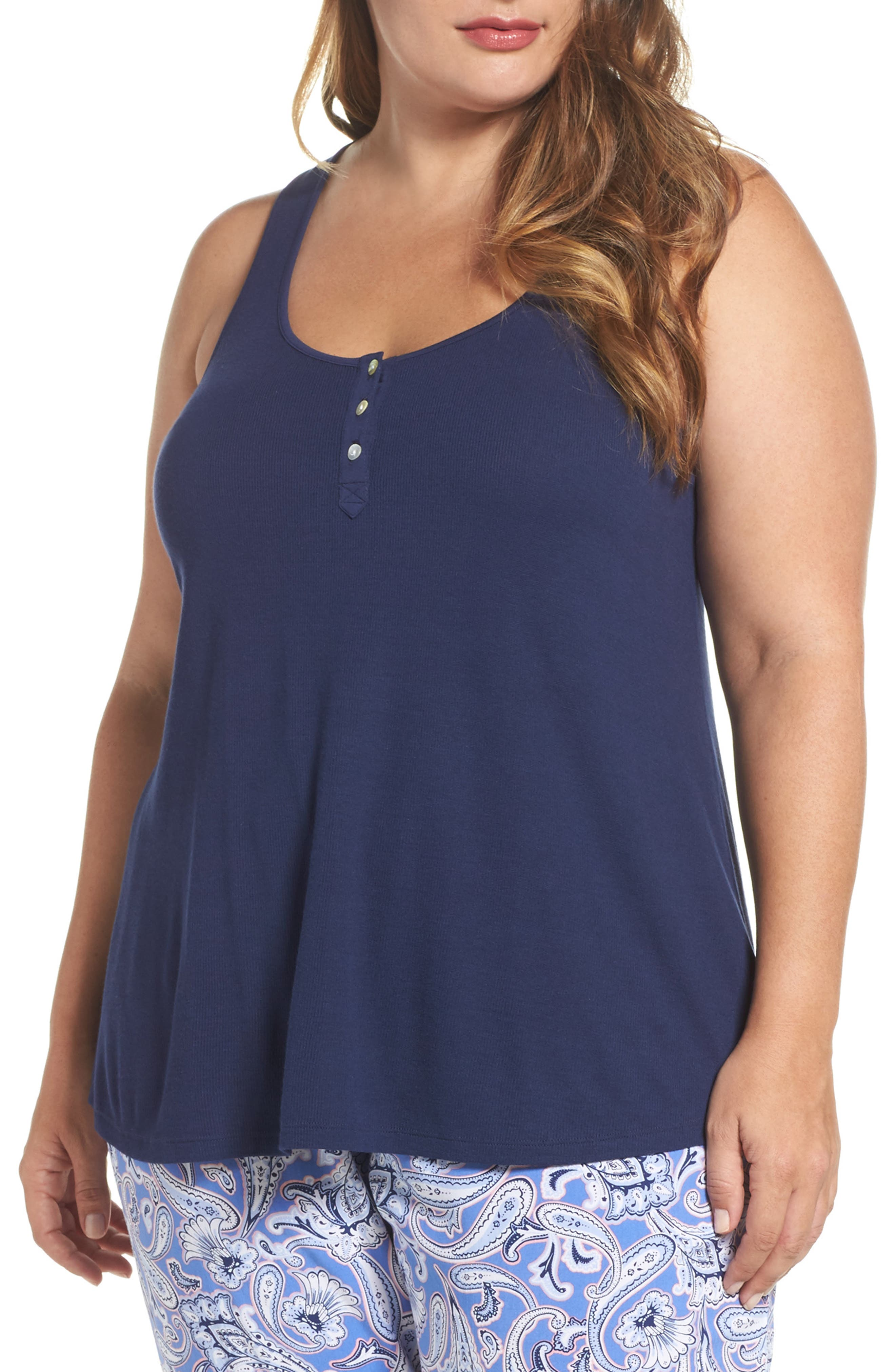 Racerback Tank,                         Main,                         color, Navy