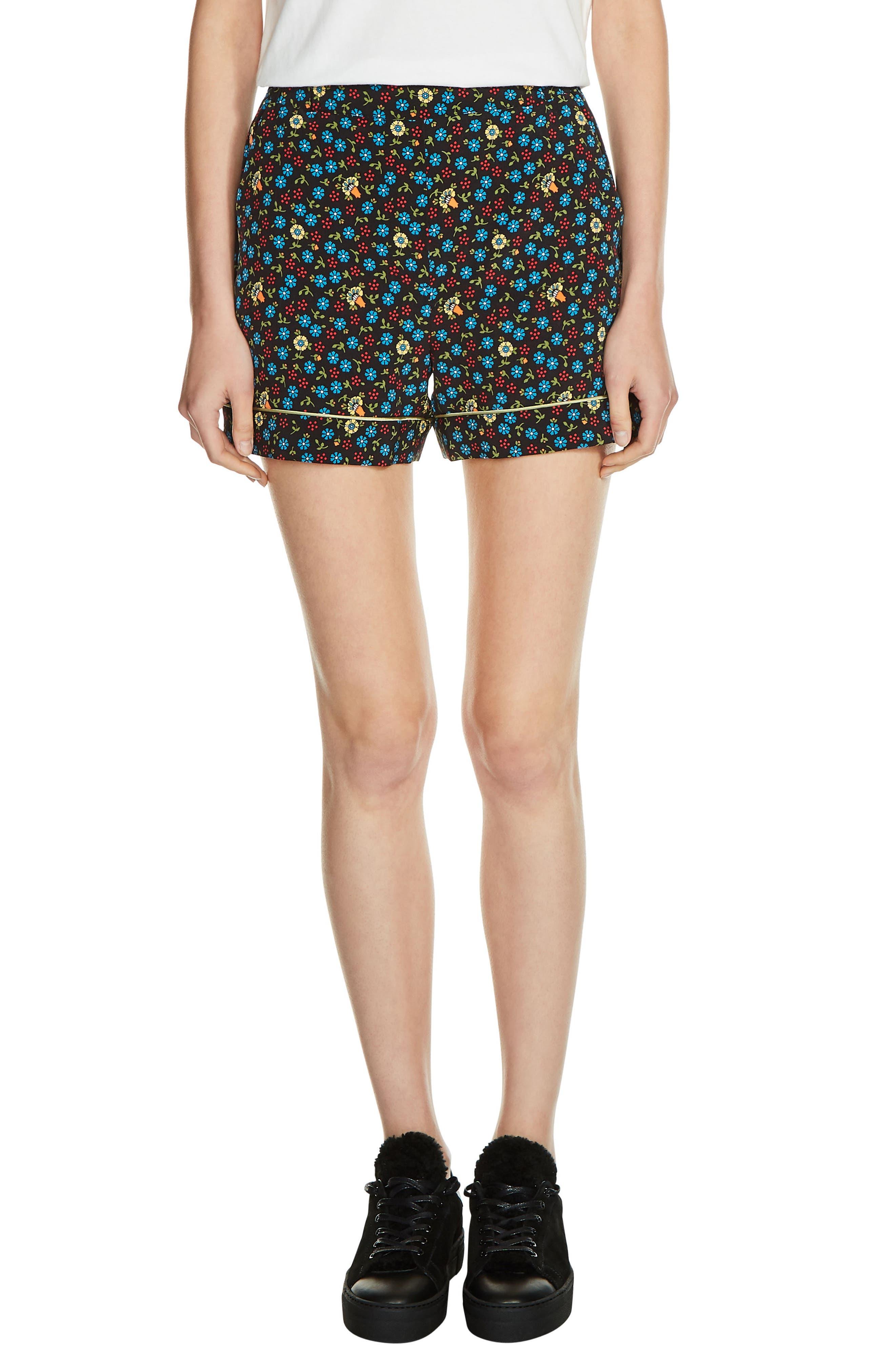 MAJE Floral Print Shorts