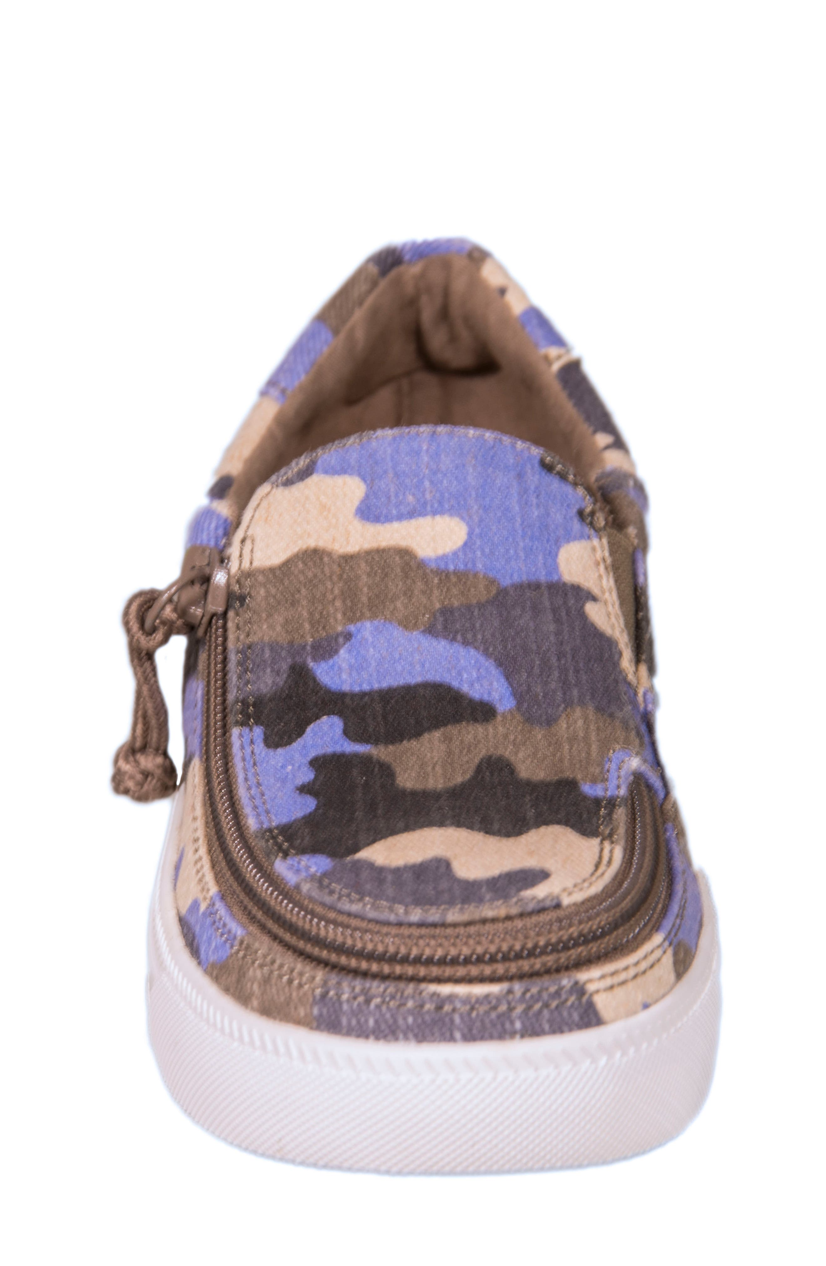 Zip Around Low Top Sneaker,                             Alternate thumbnail 3, color,                             Green/ Multi
