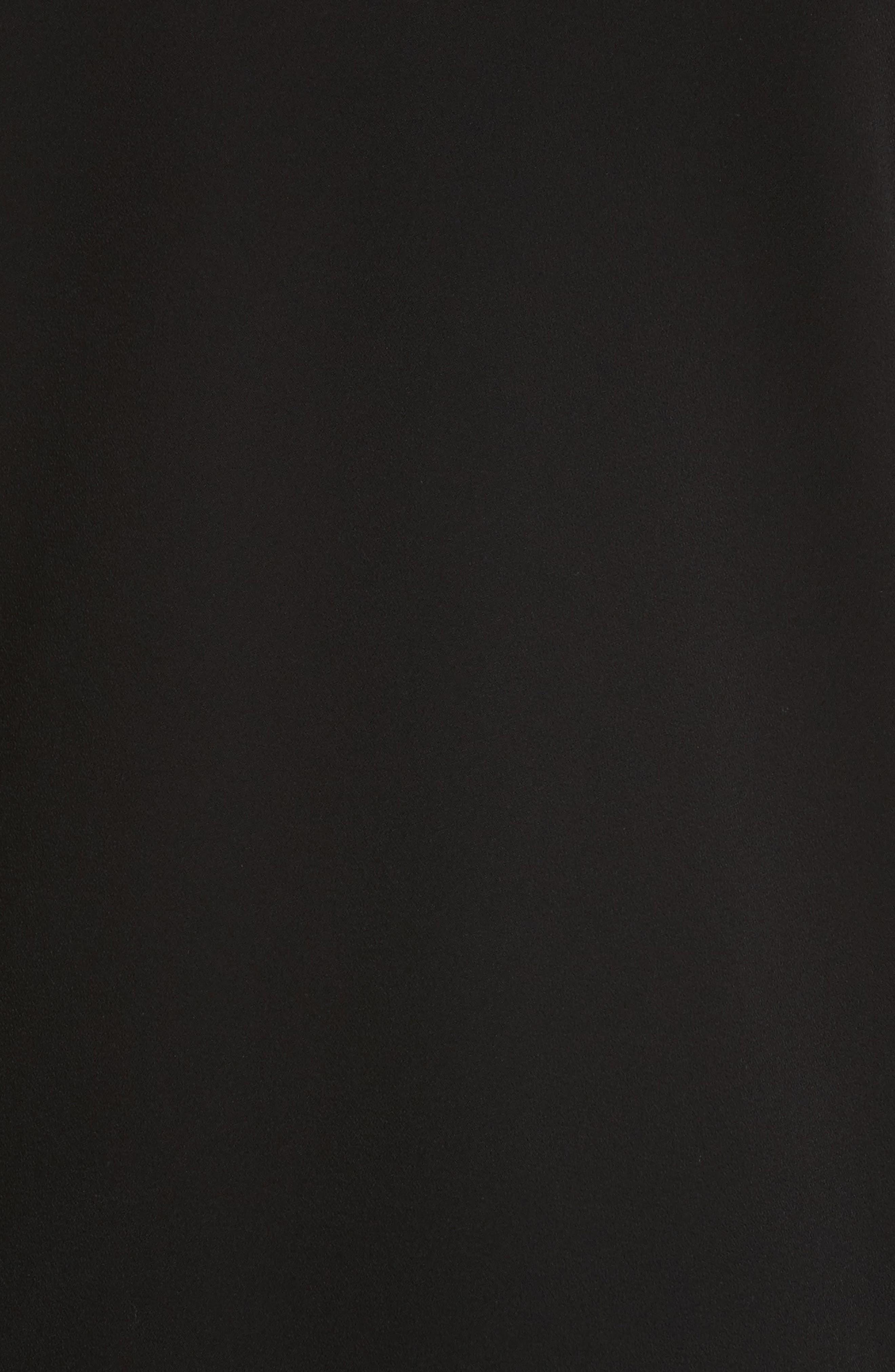 Kalitta Finesse Crepe Dress,                             Alternate thumbnail 6, color,                             Black