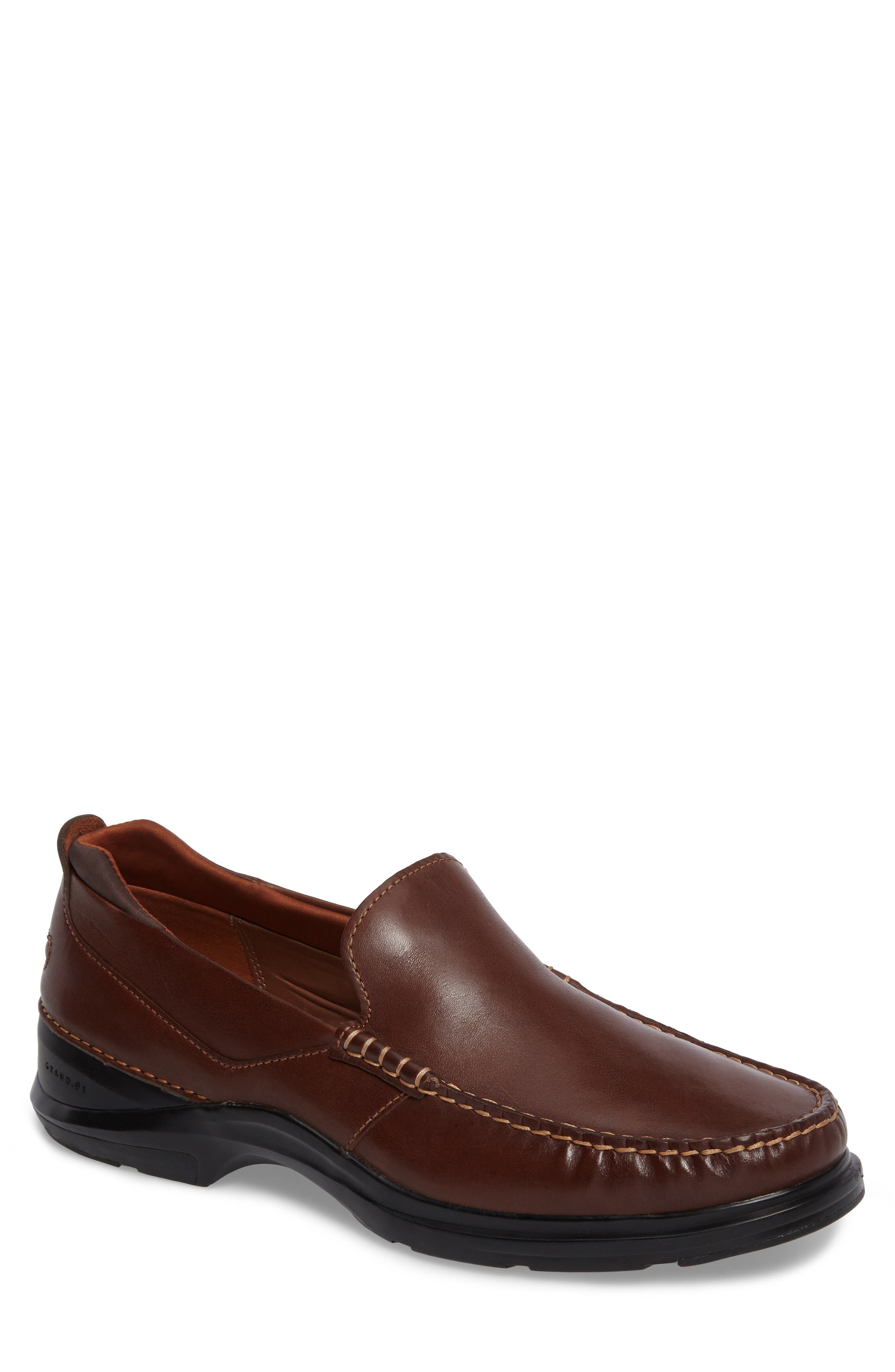Bancroft Loafer,                             Main thumbnail 1, color,                             Harvest Brown Leather
