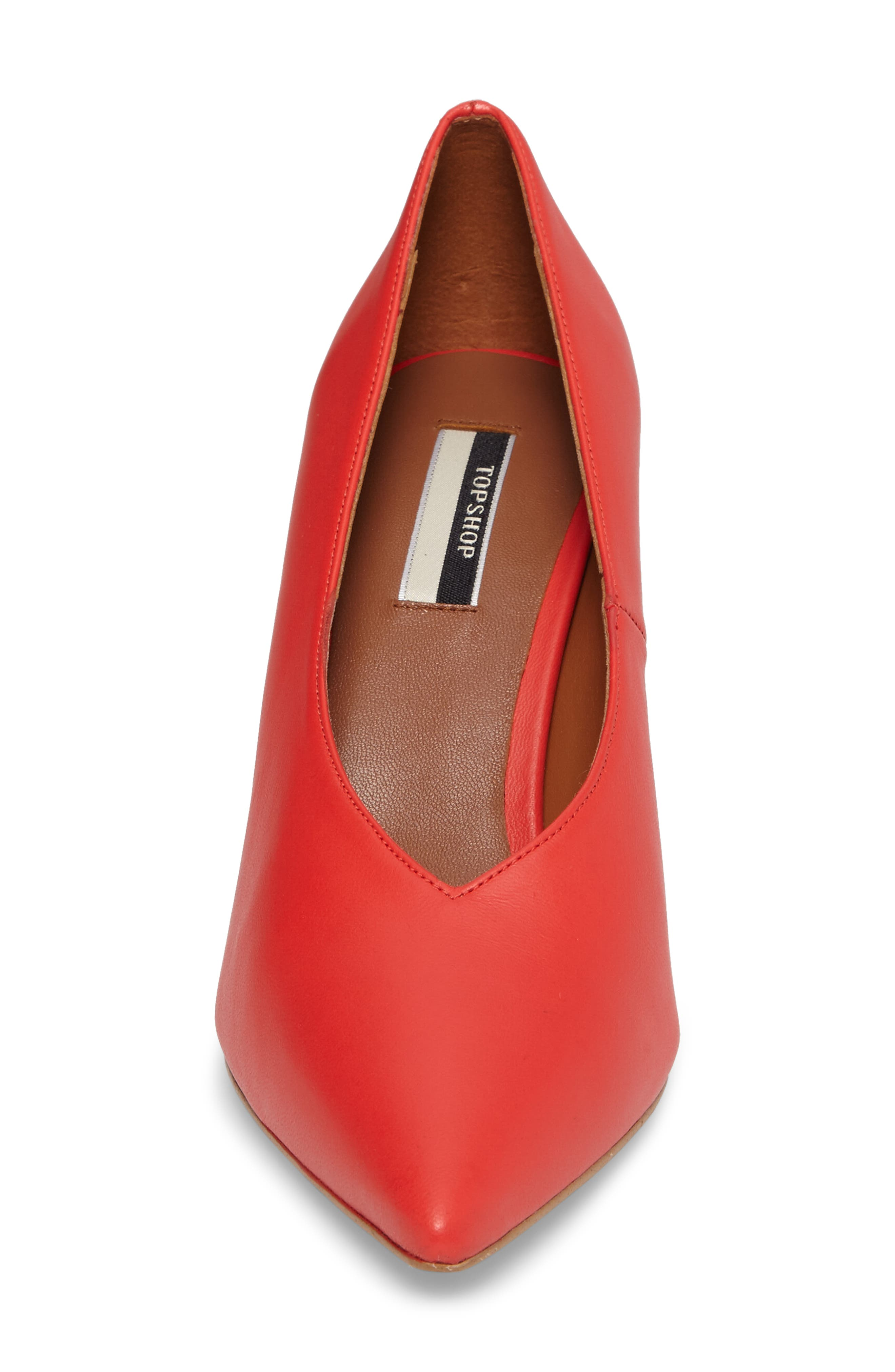 Journal Pointy Toe Pump,                             Alternate thumbnail 4, color,                             Red