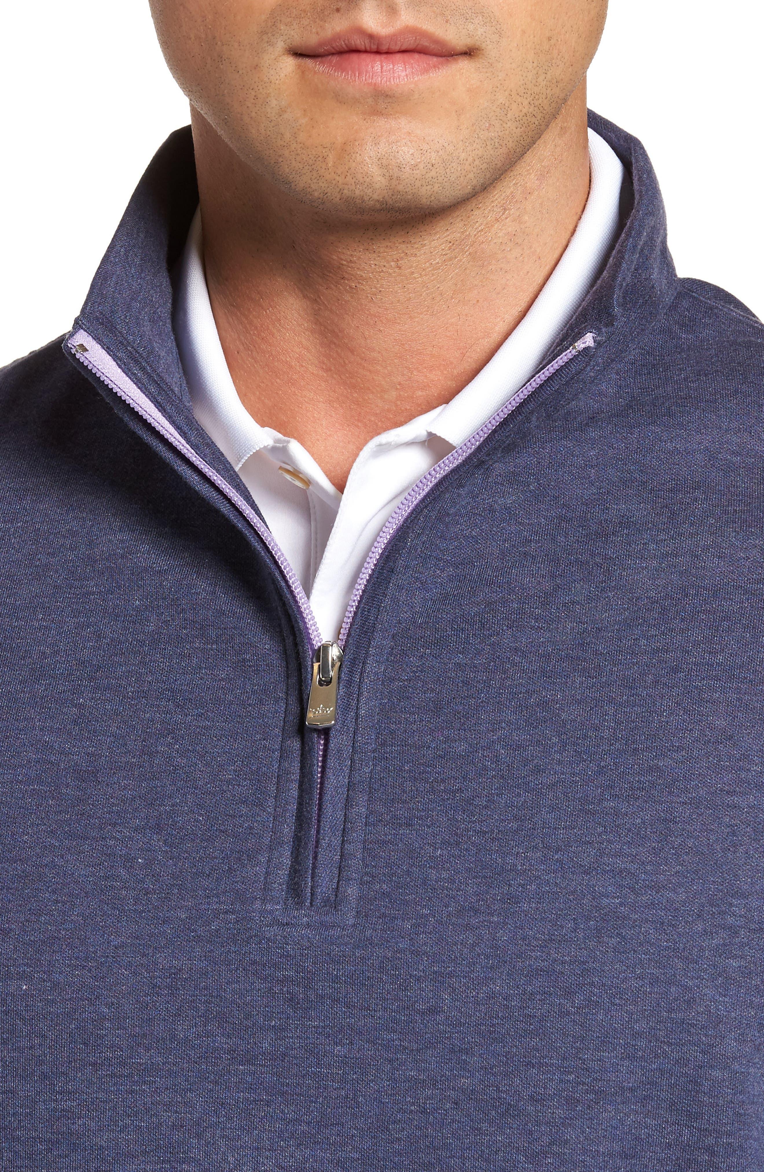 Alternate Image 4  - Peter Millar Crown Comfort Jersey Quarter Zip Pullover