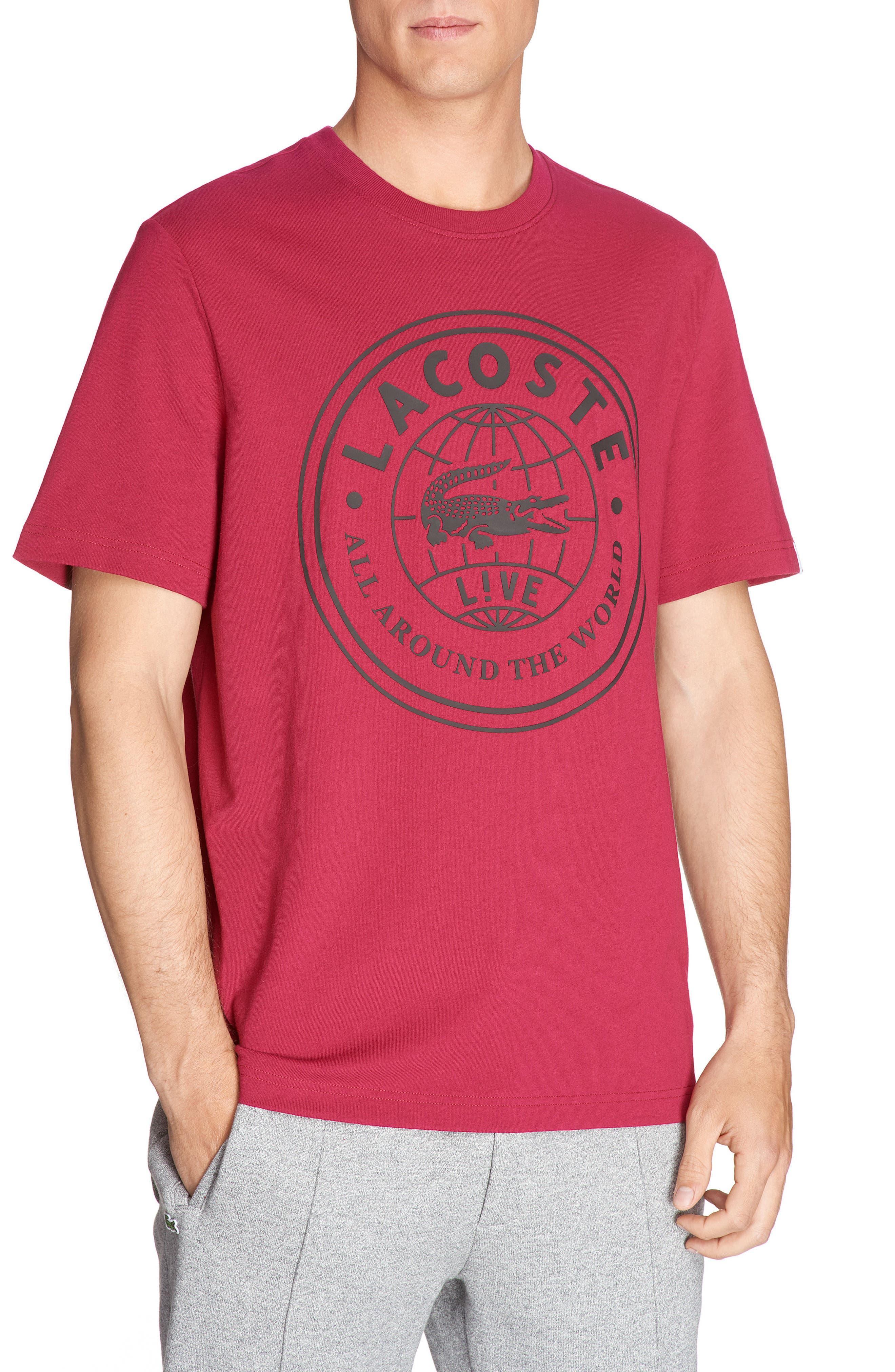 LACOSTE Logo Graphic T-Shirt