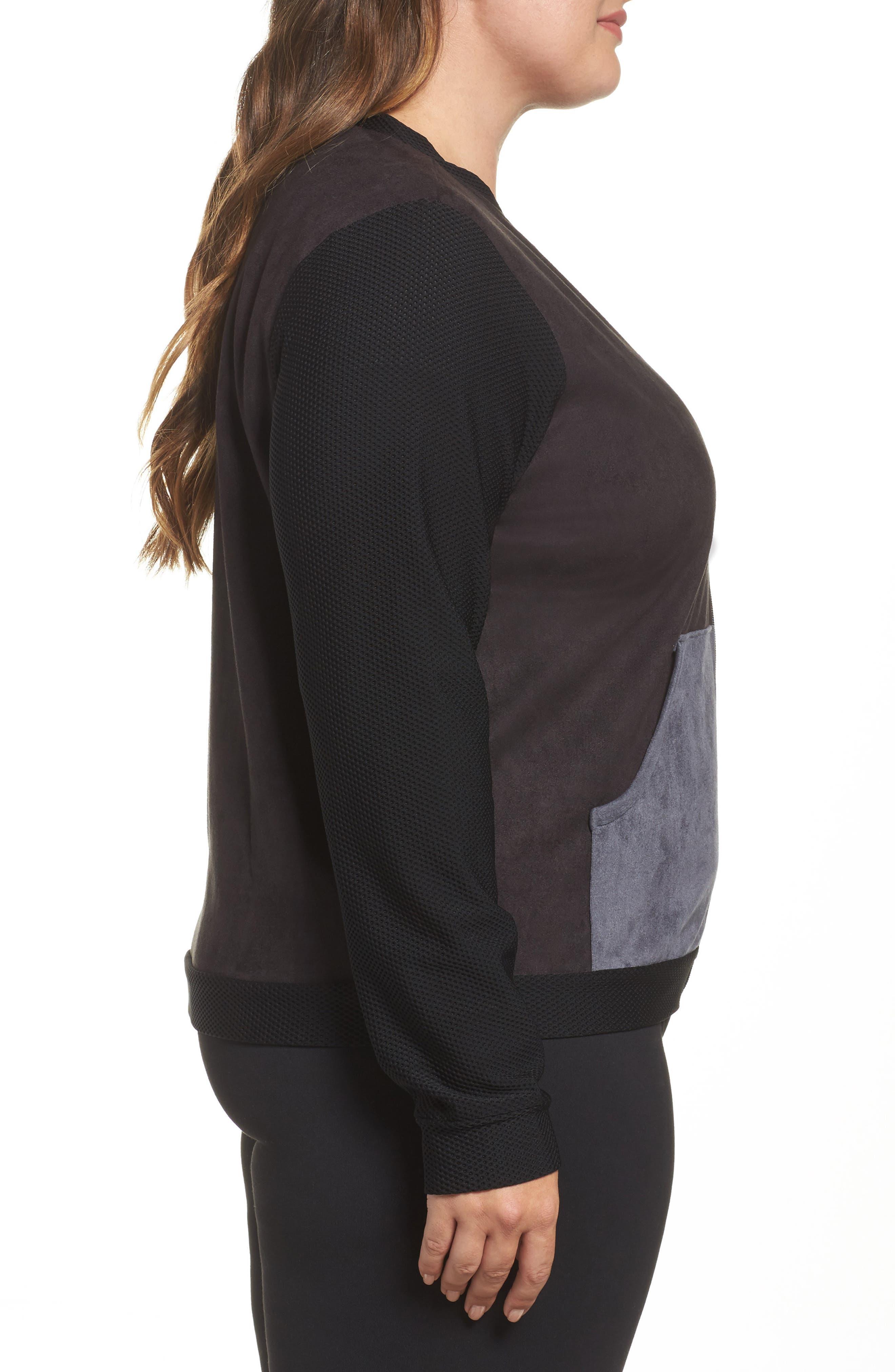 Track Jacket,                             Alternate thumbnail 4, color,                             Black/ Charcoal