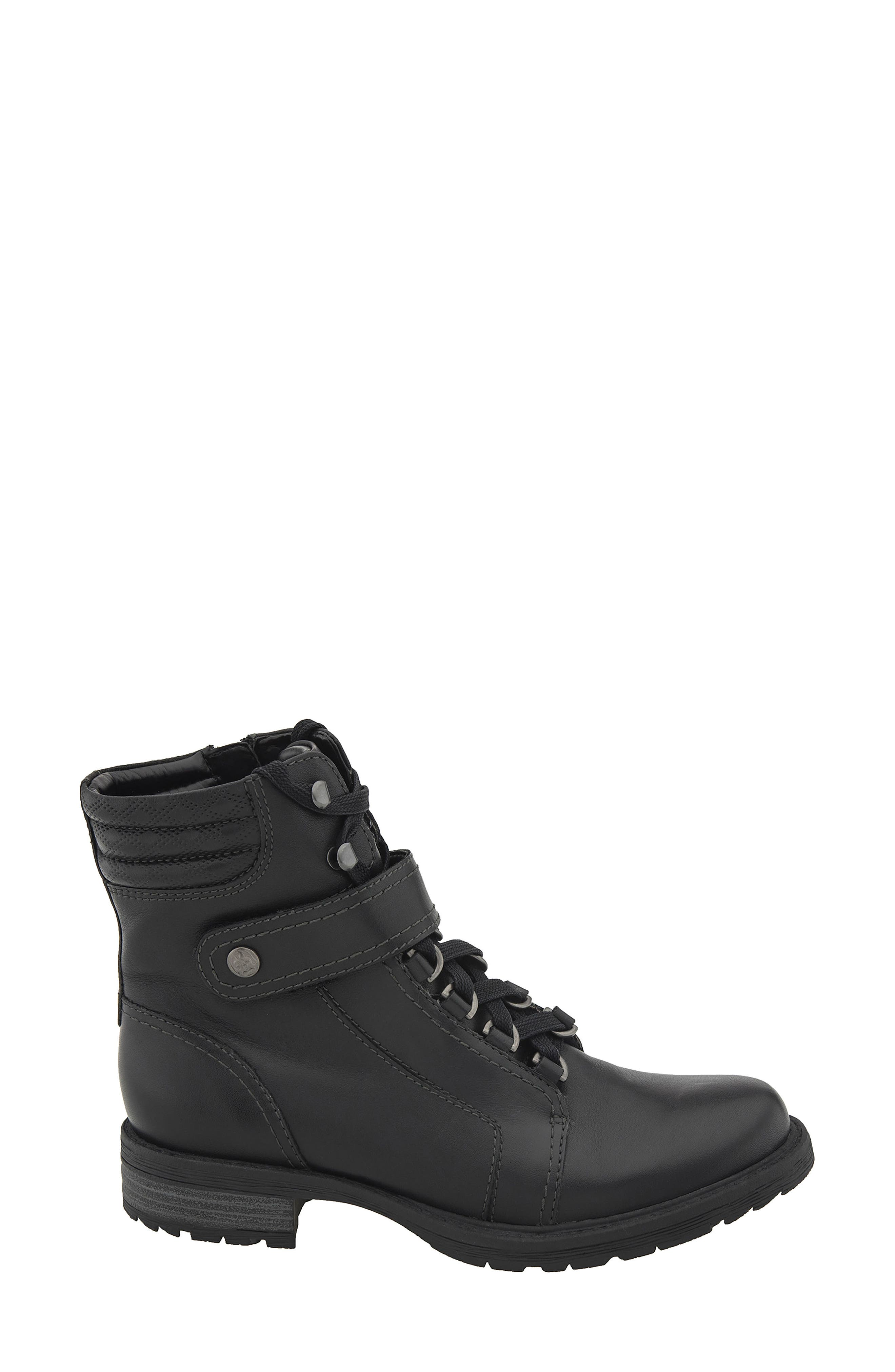 Everest Lace-Up Boot,                             Alternate thumbnail 3, color,                             Black Leather