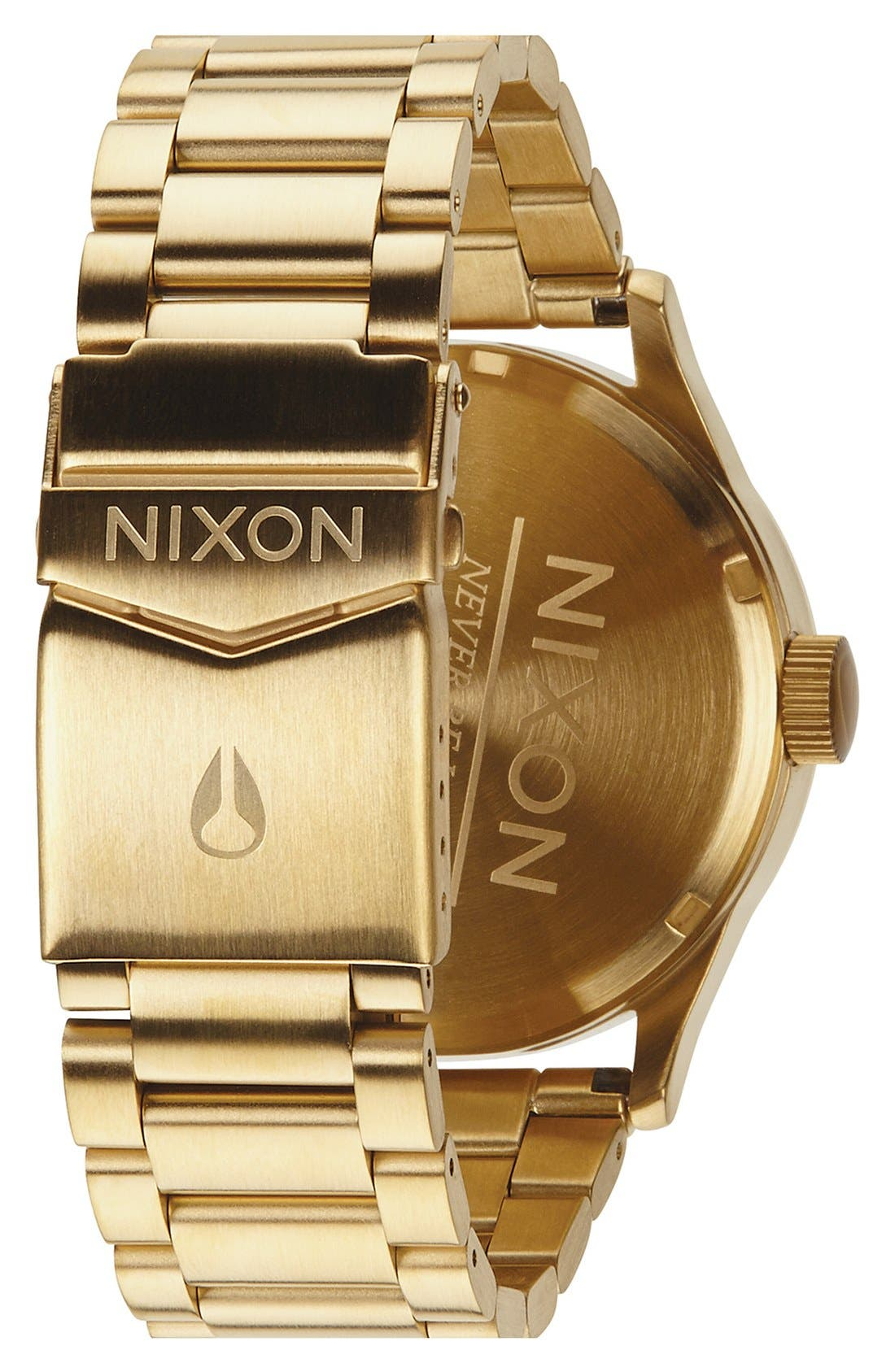 Sentry Bracelet Watch, 42mm,                             Alternate thumbnail 2, color,                             Gold/ Black