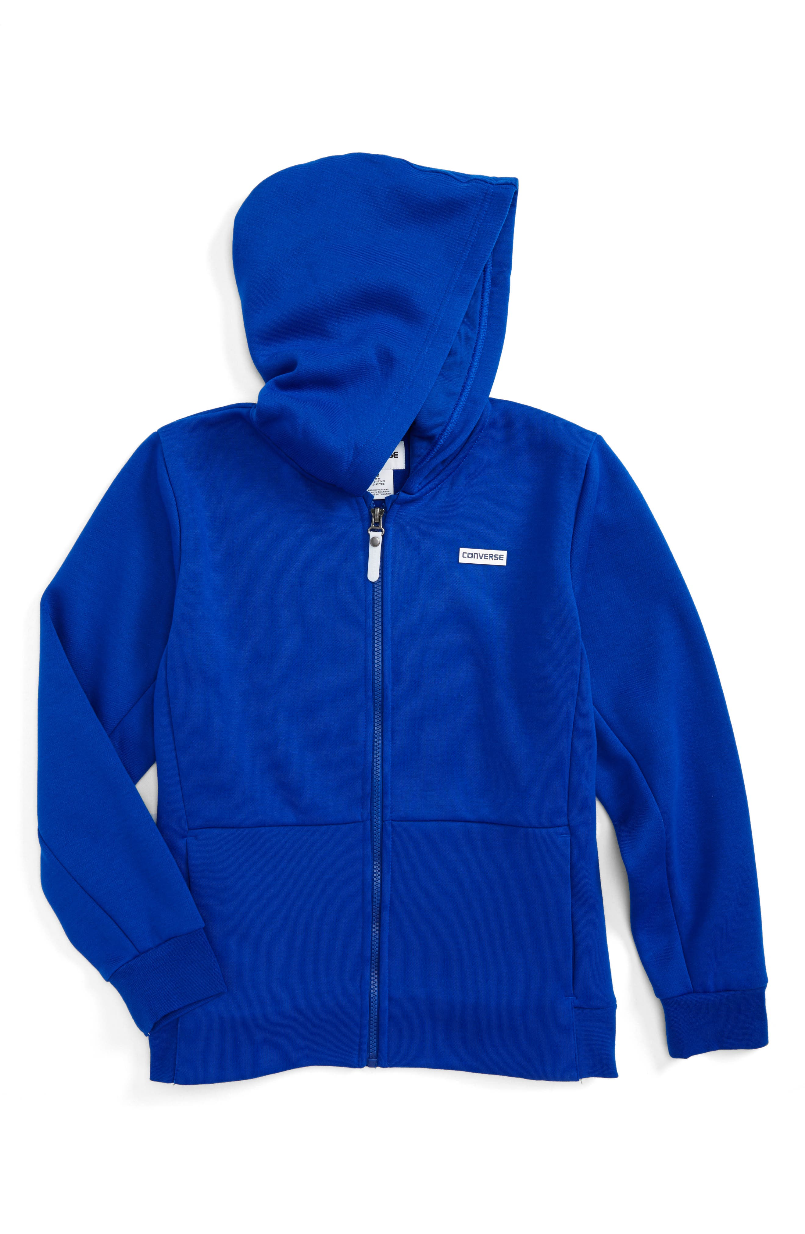 Converse Full Zip Fleece Hoodie (Big Boys)