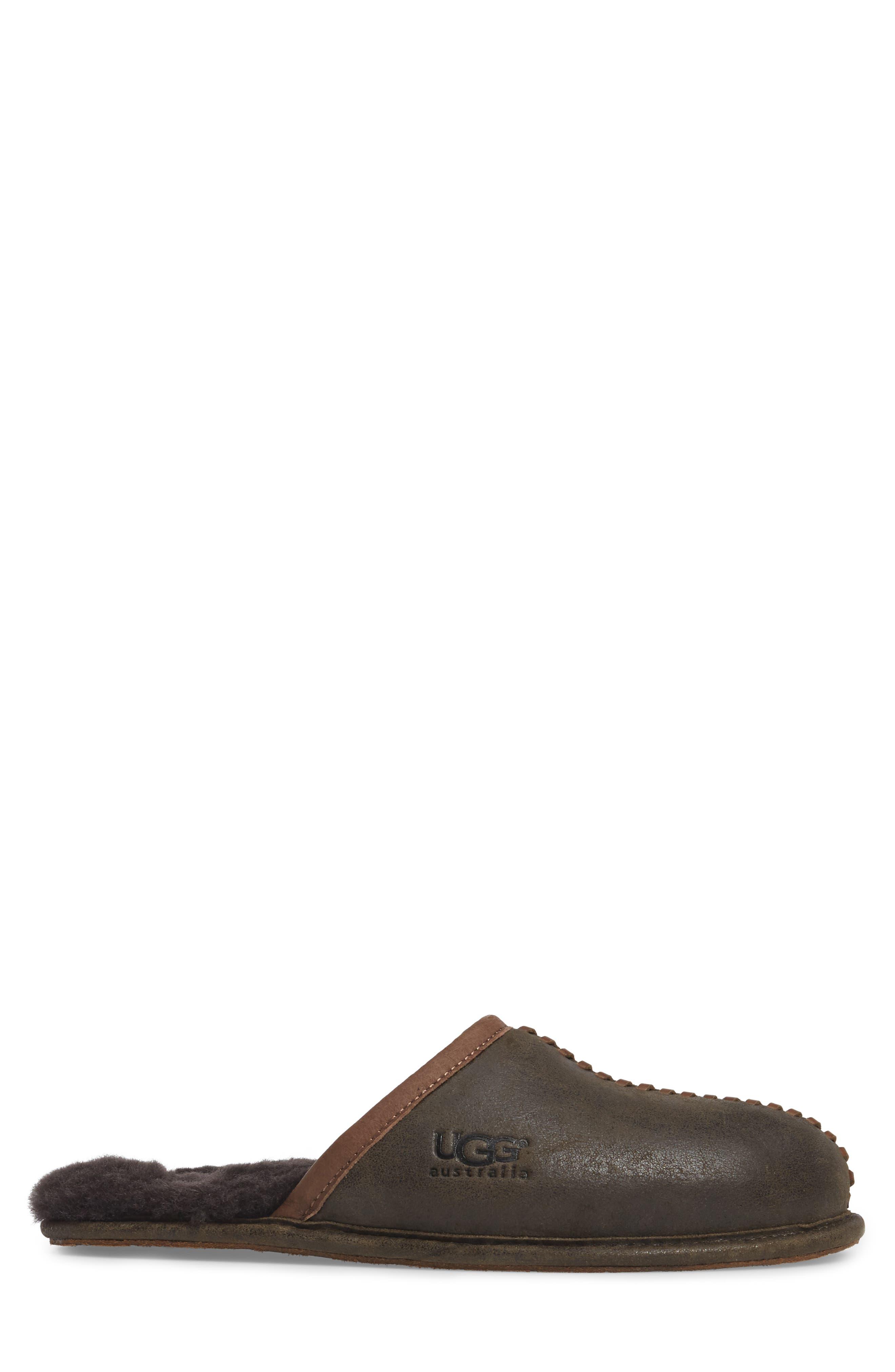 Scuff - Deco Genuine Shearling Slipper,                             Alternate thumbnail 3, color,                             Stout