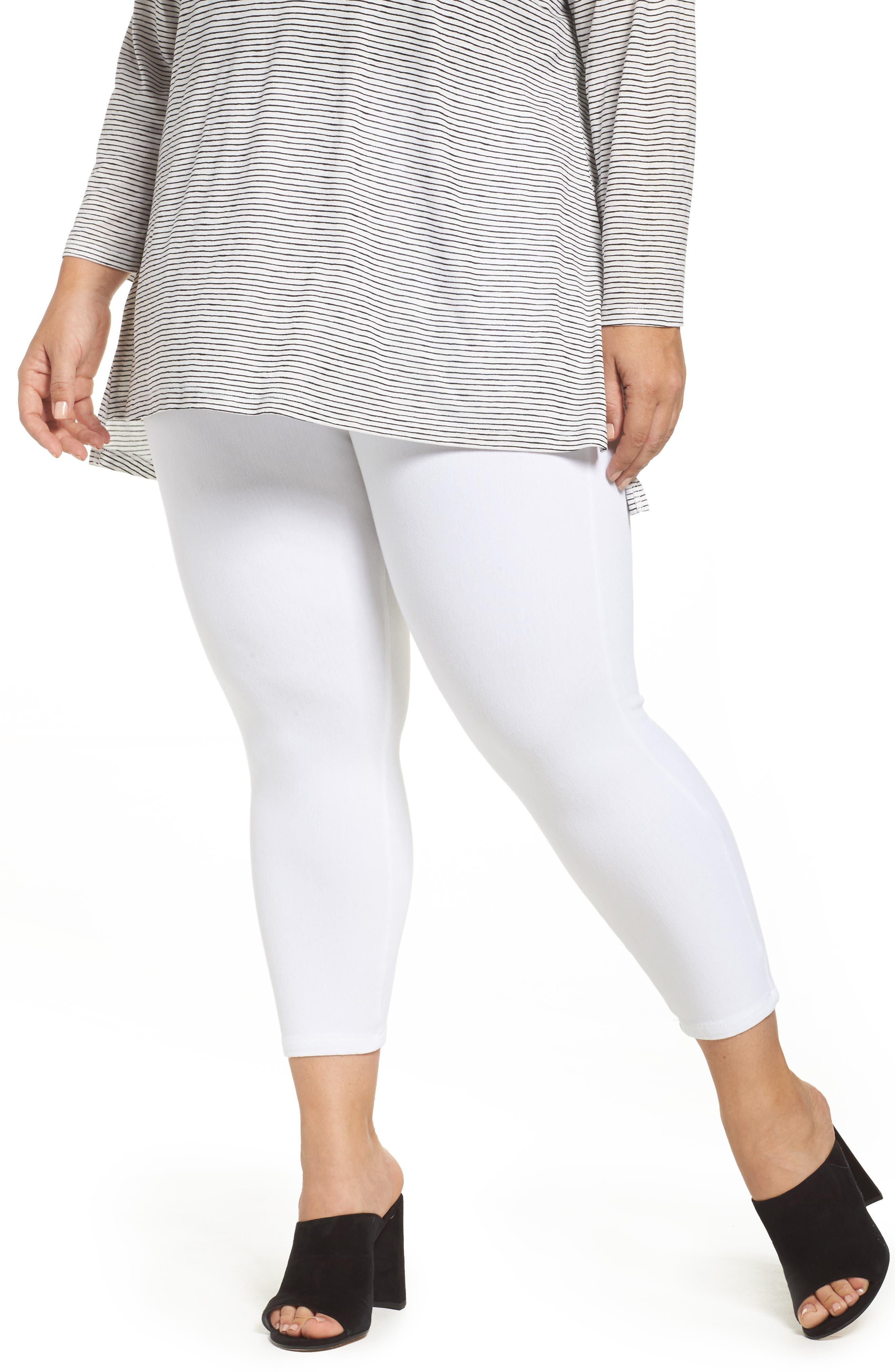 Lyssè Toothpick Crop Denim Leggings,                         Main,                         color, White