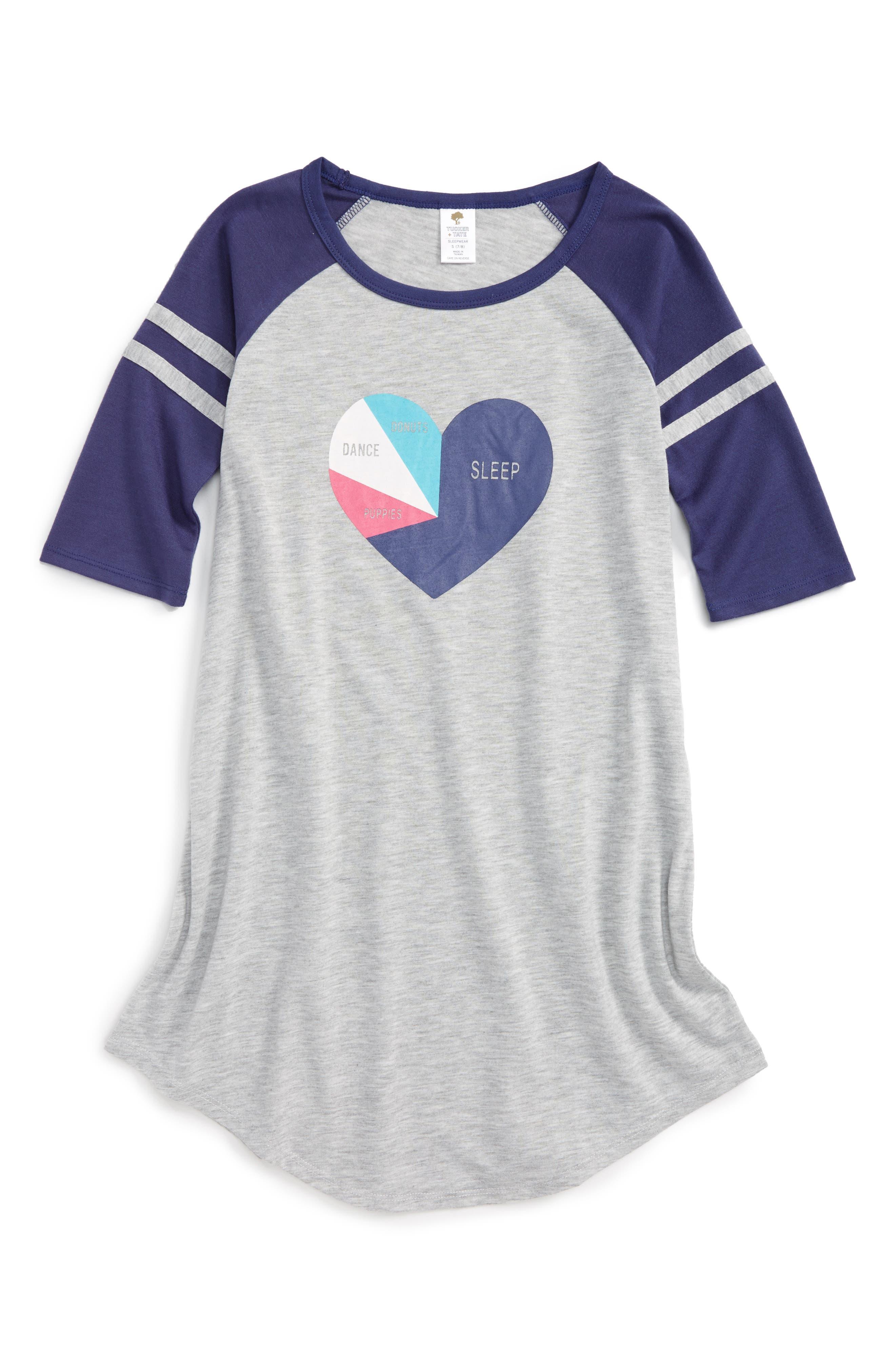 Tucker + Tate Graphic Sleep Shirt (Big Girls)