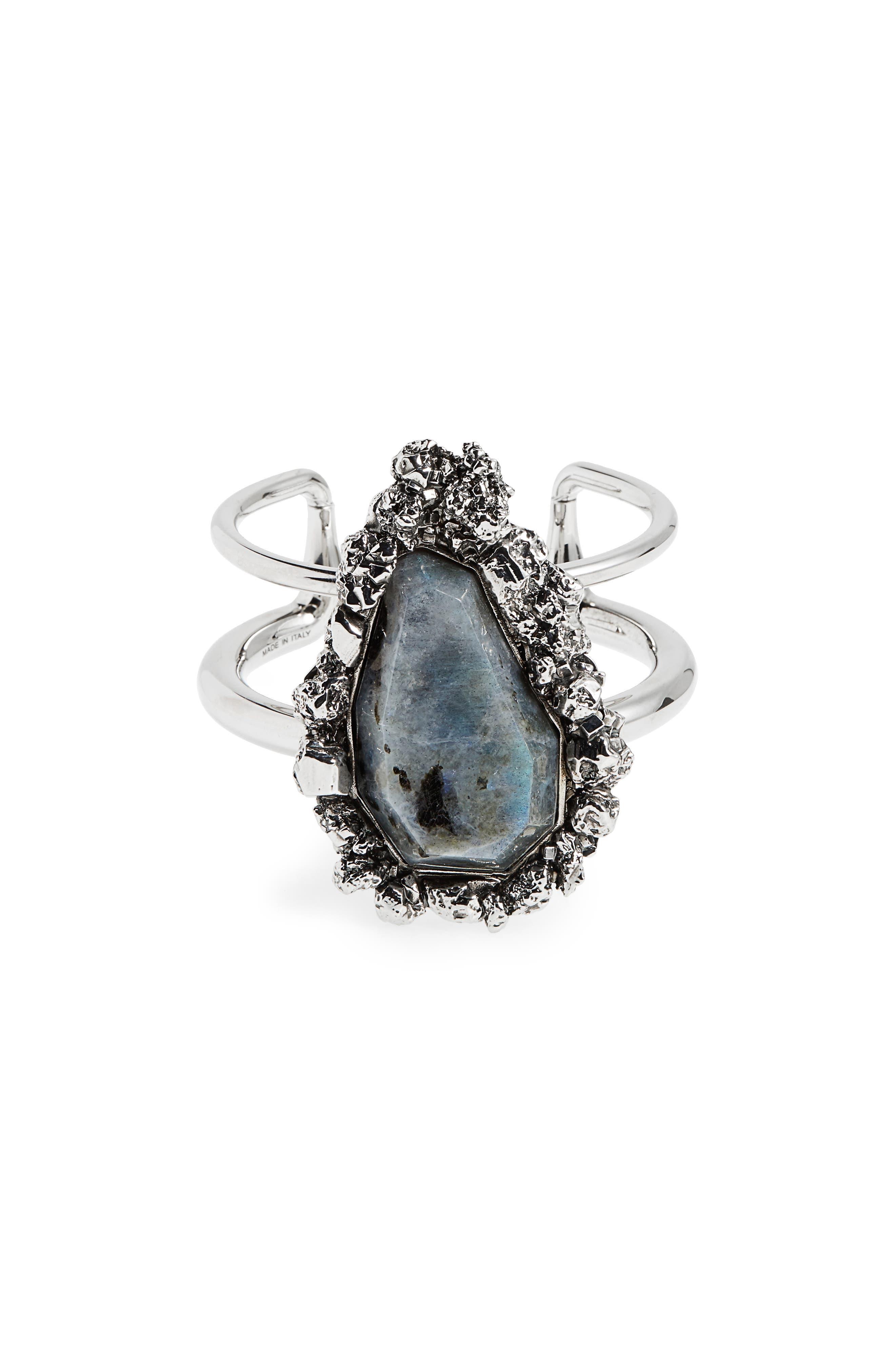 Labradorite Cuff,                         Main,                         color, Labradorite/ Silver