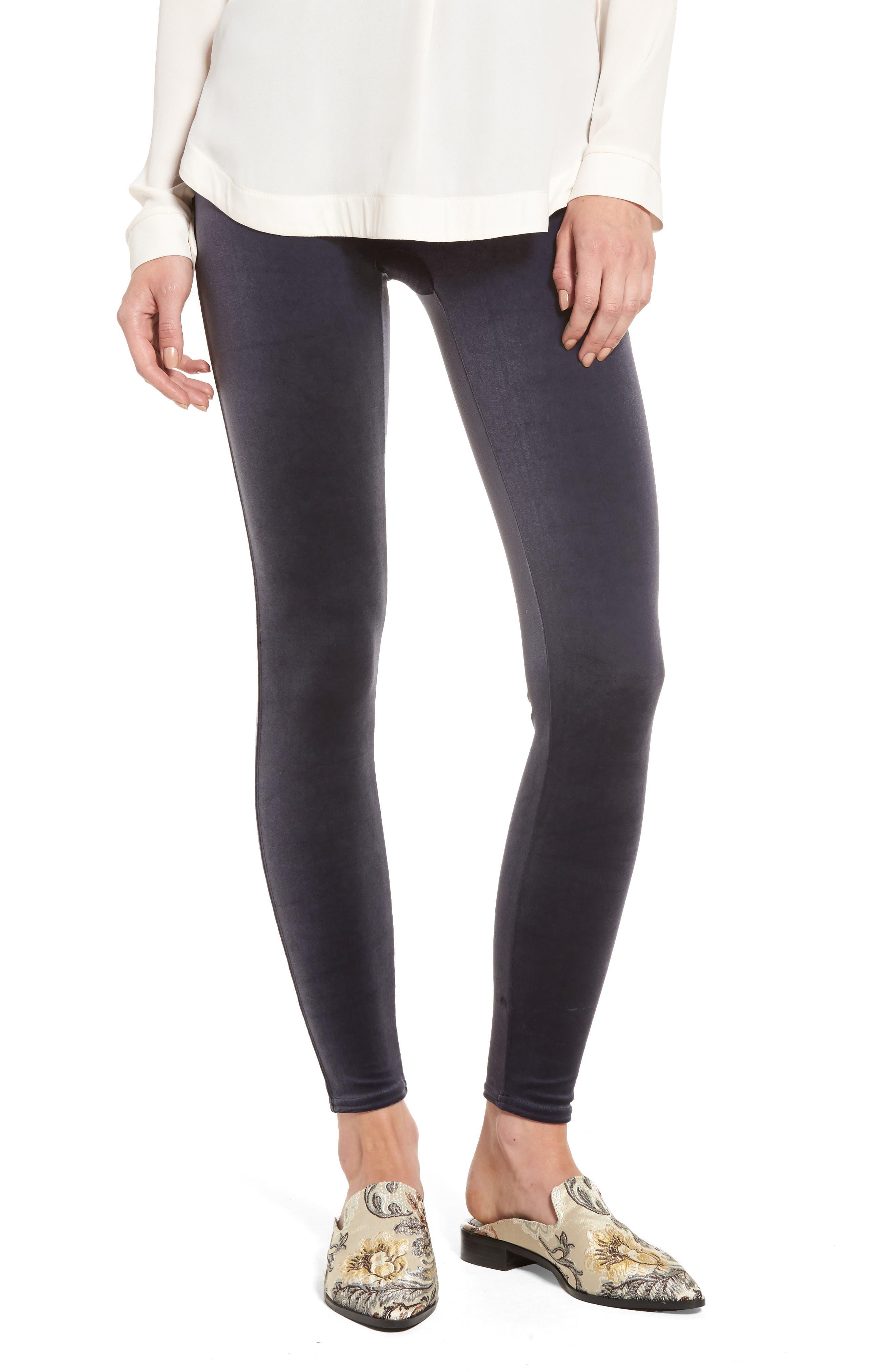 Velvet Leggings,                         Main,                         color, Moonshadow