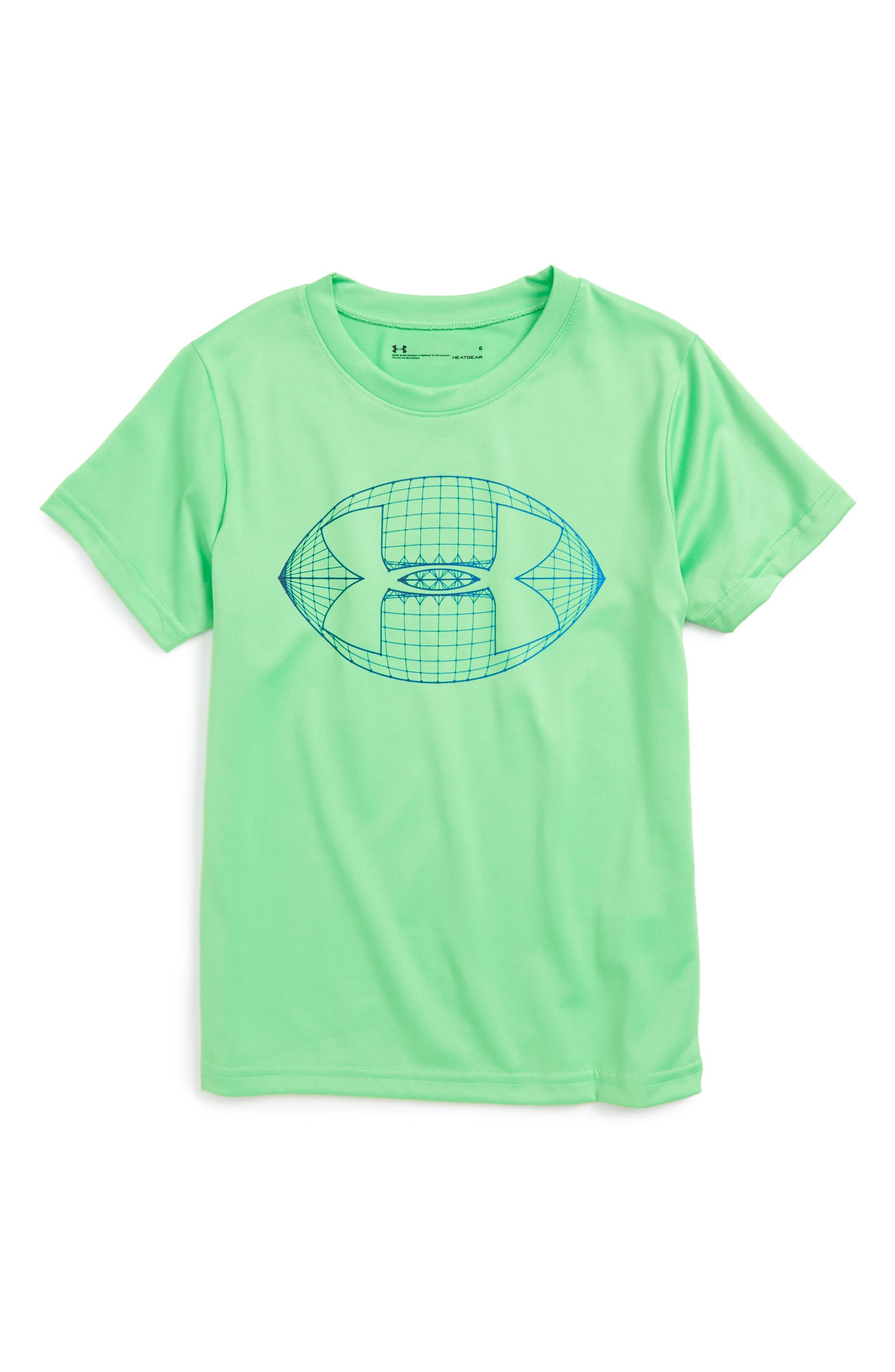 Football Logo Graphic T-Shirt,                         Main,                         color, Lime Twist