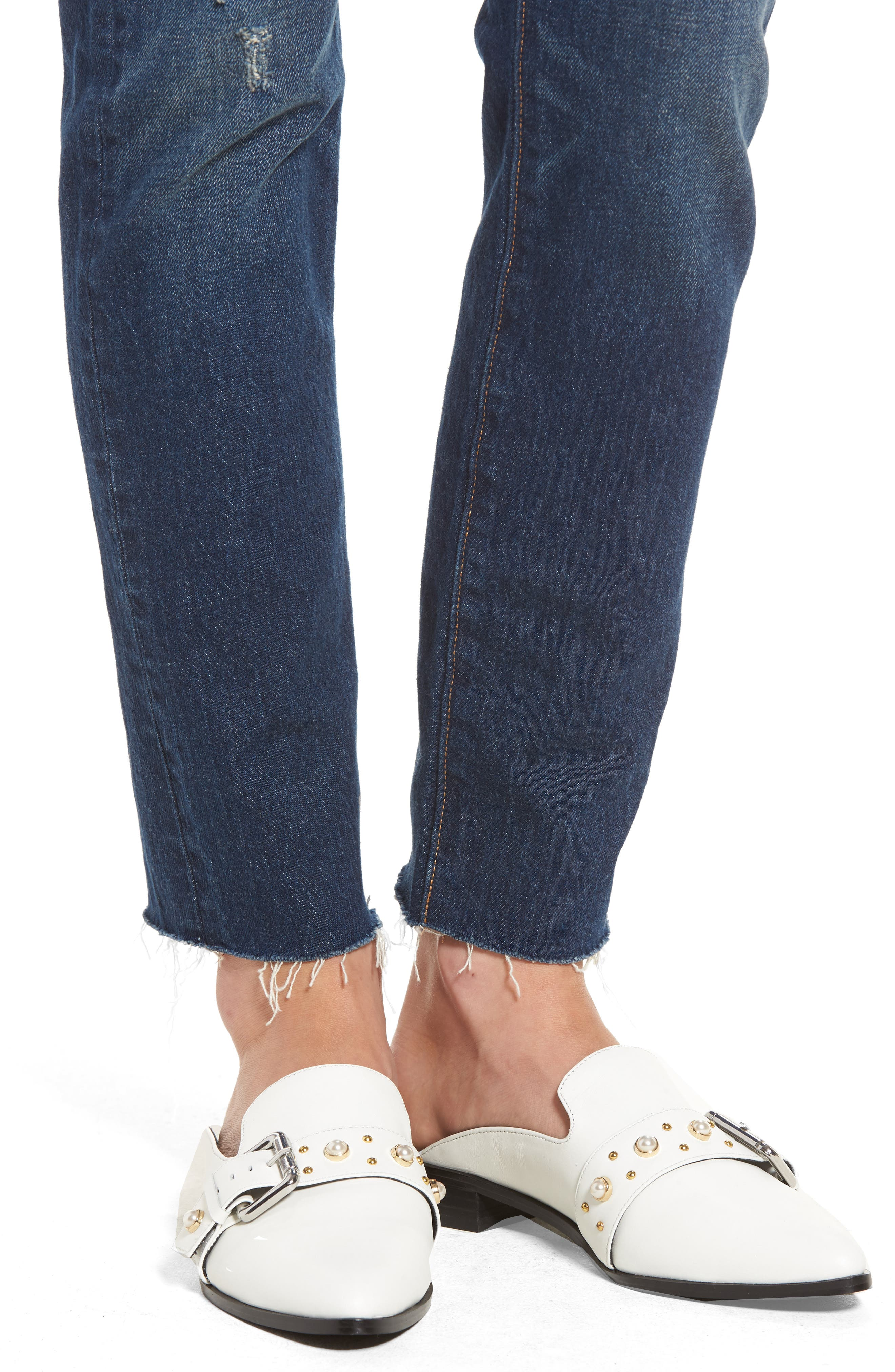 Levis<sup>®</sup> 501 Raw Hem Skinny Jeans,                             Alternate thumbnail 7, color,                             Song For Forever