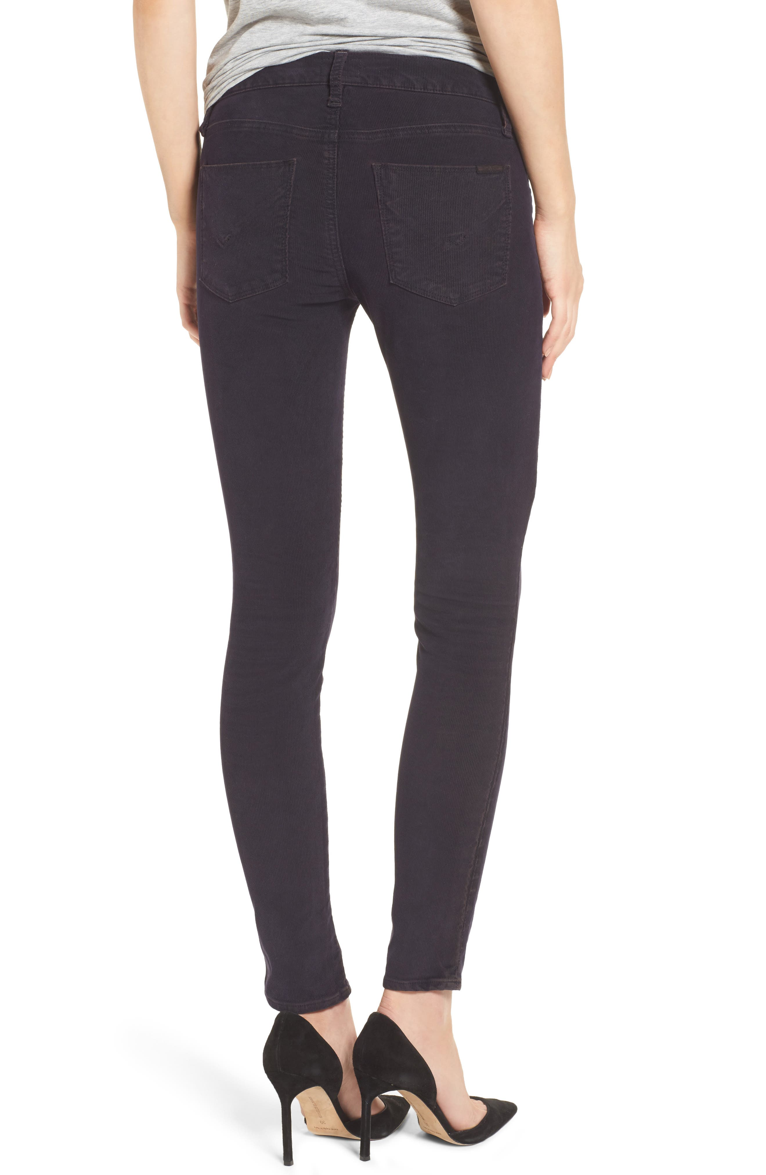 Nico Ankle Super Skinny Corduroy Pants,                             Alternate thumbnail 2, color,                             Broken Orchid