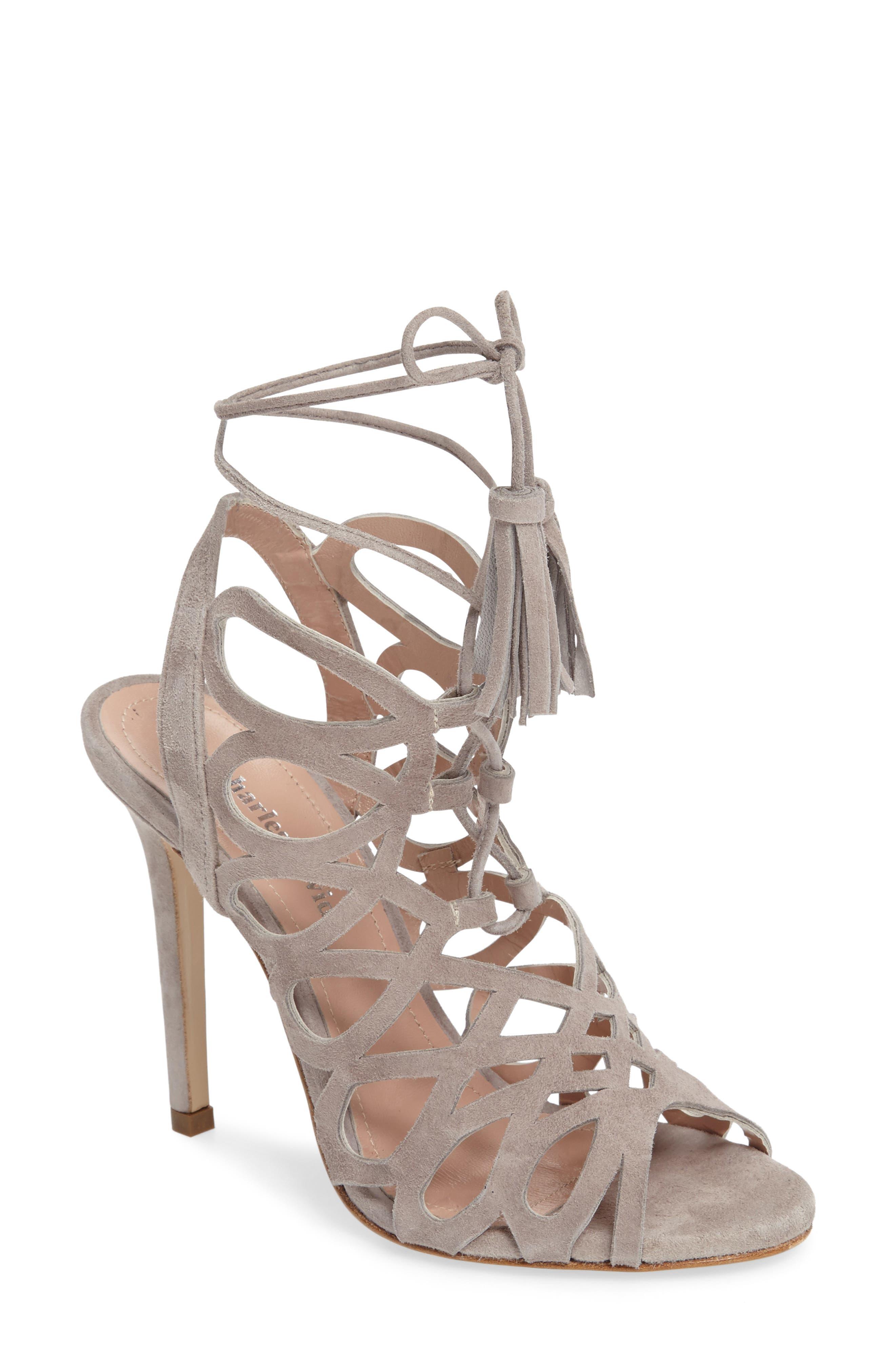 Priscilla Cage Sandal,                         Main,                         color, Grey Suede