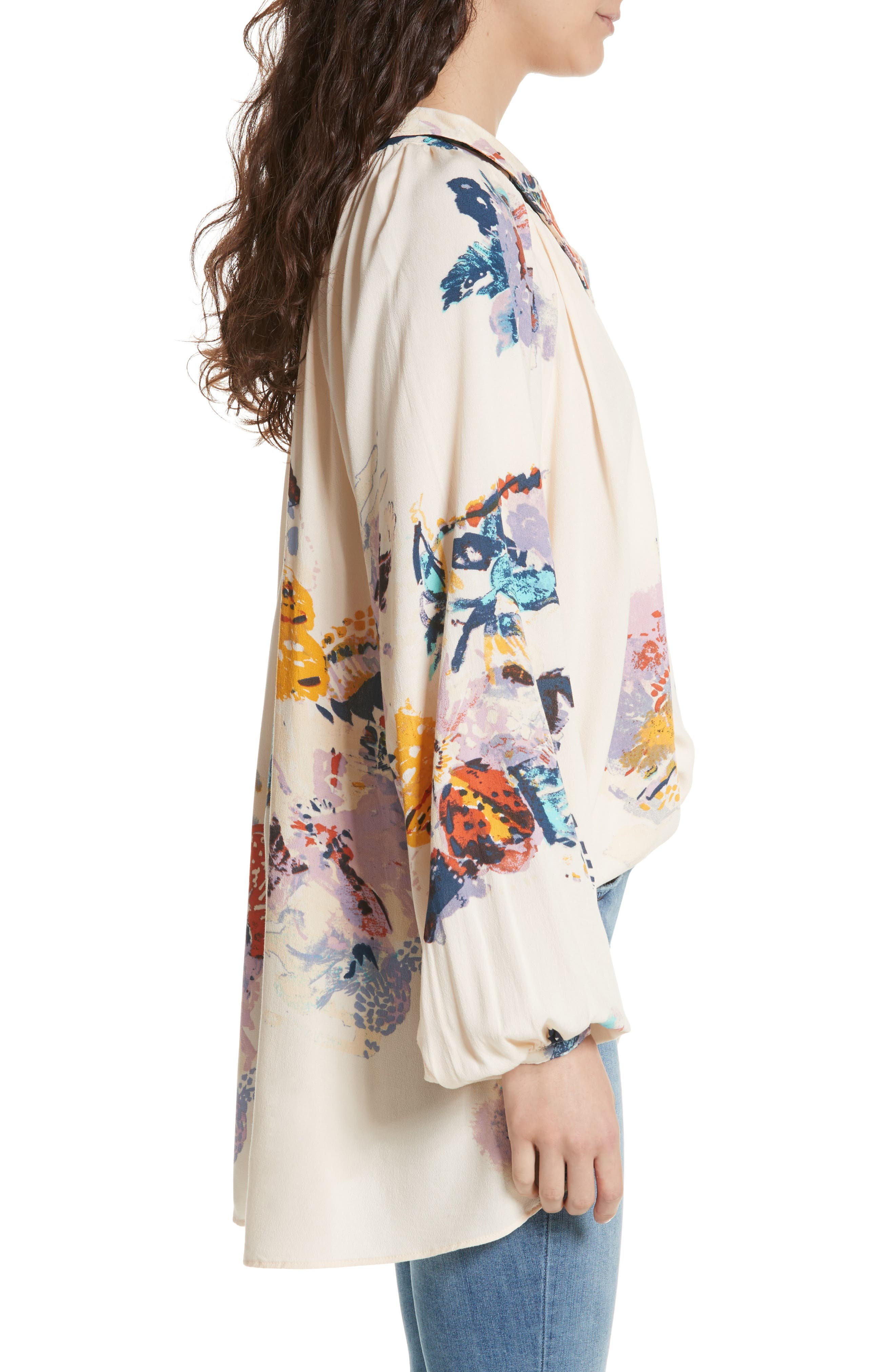 Meadow Lark Blouse,                             Alternate thumbnail 3, color,                             Cream