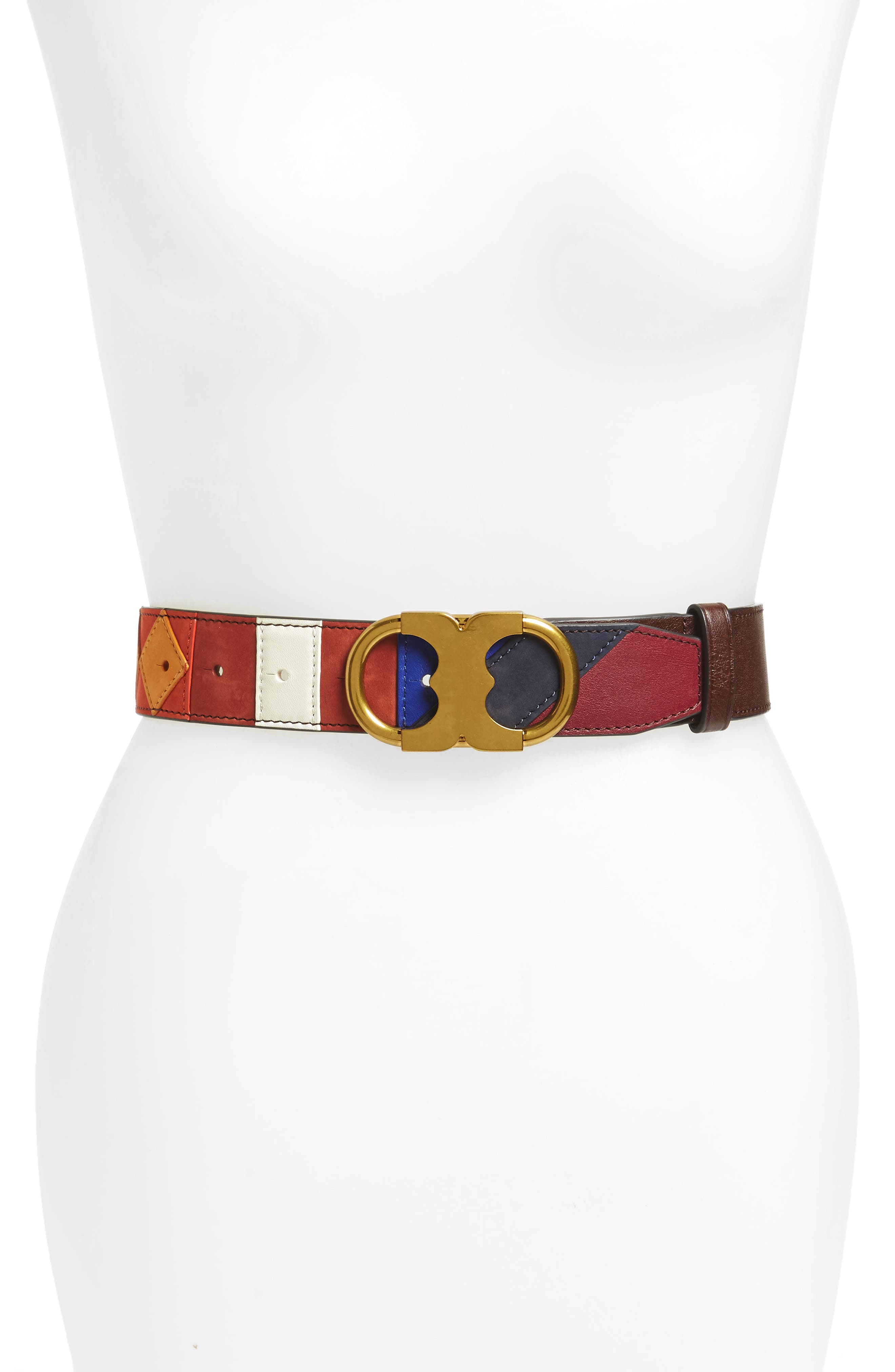TORY BURCH Gemini Patchwork Leather Belt