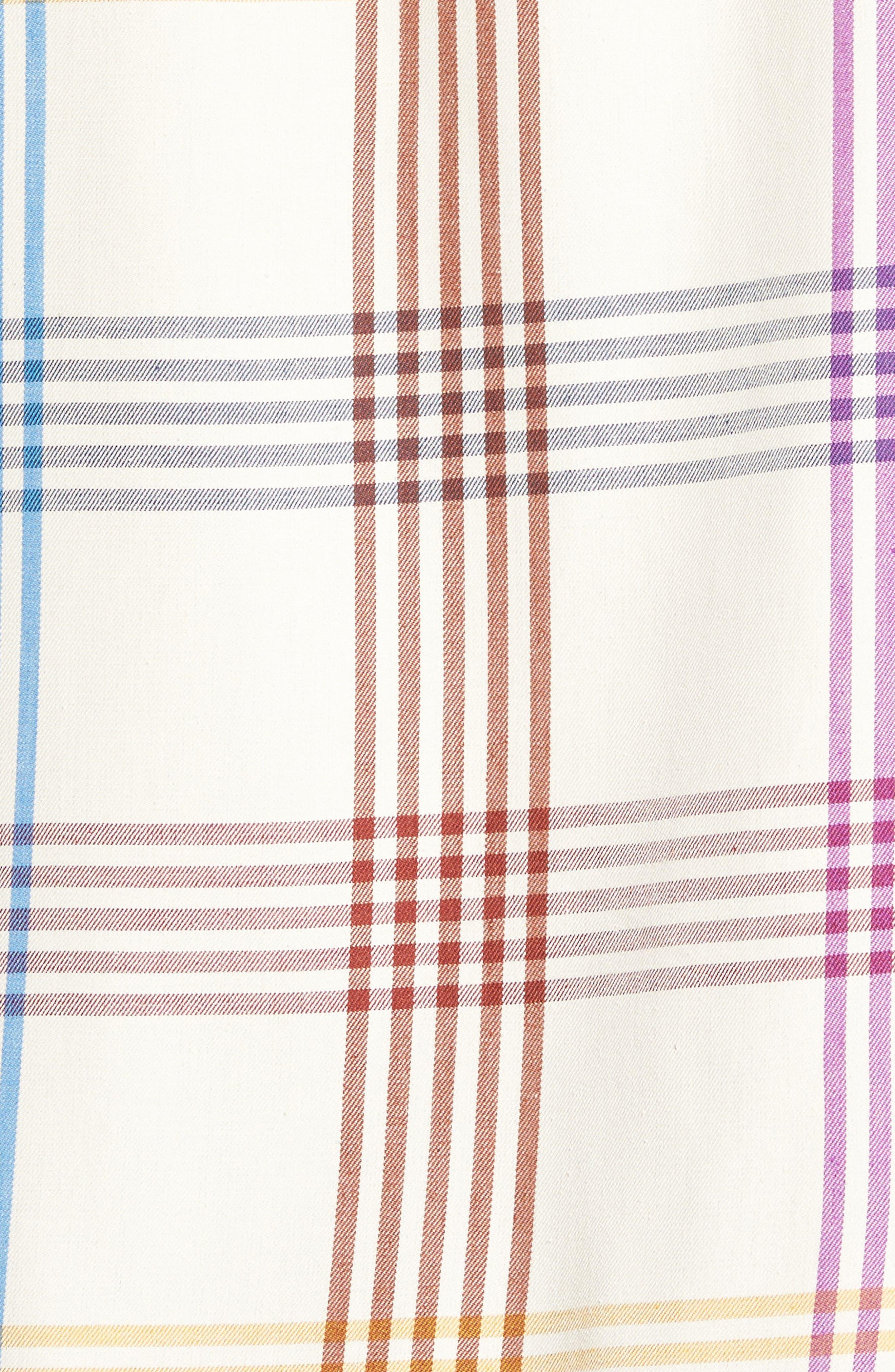 Mo' Rockin Standard Fit Silk Woven Shirt,                             Alternate thumbnail 5, color,                             Coconut Cream