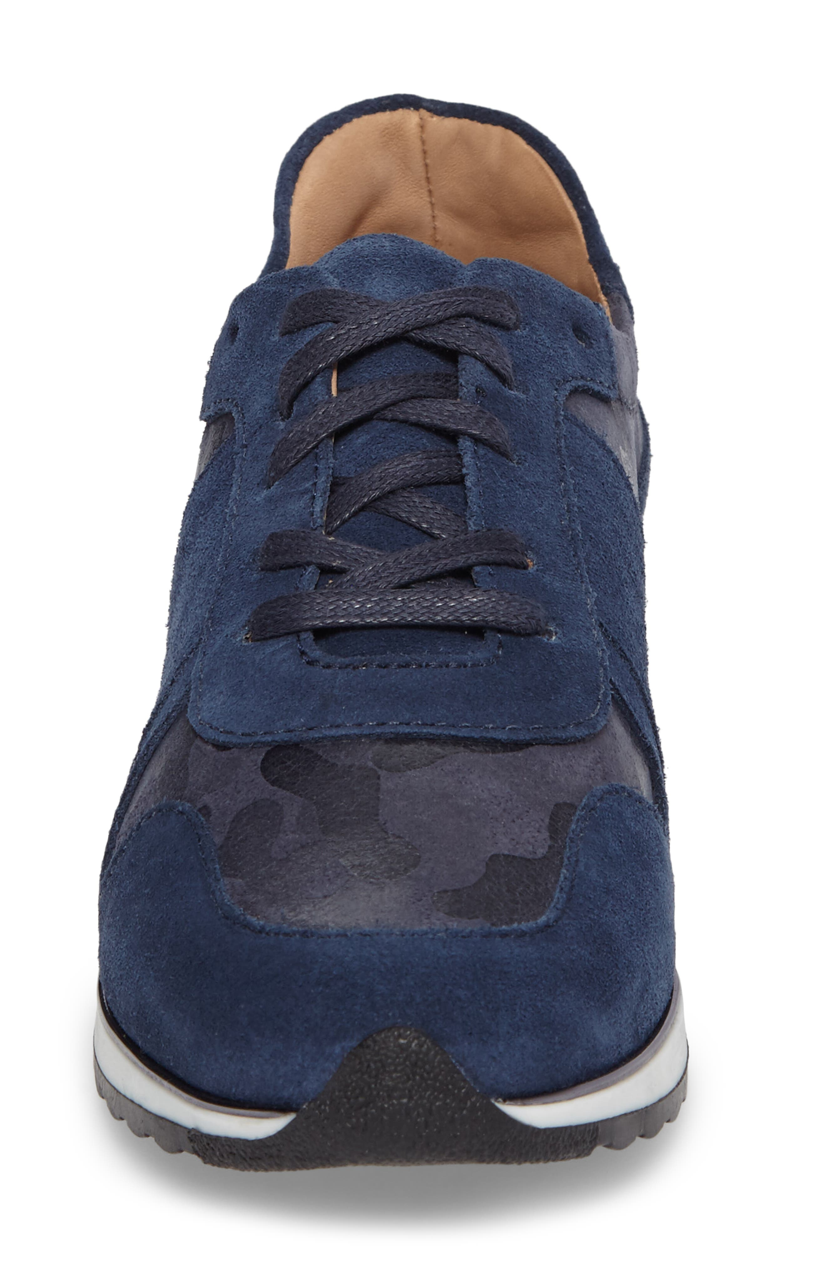 Stefani Sneaker,                             Alternate thumbnail 4, color,                             Camo Nubuck Leather