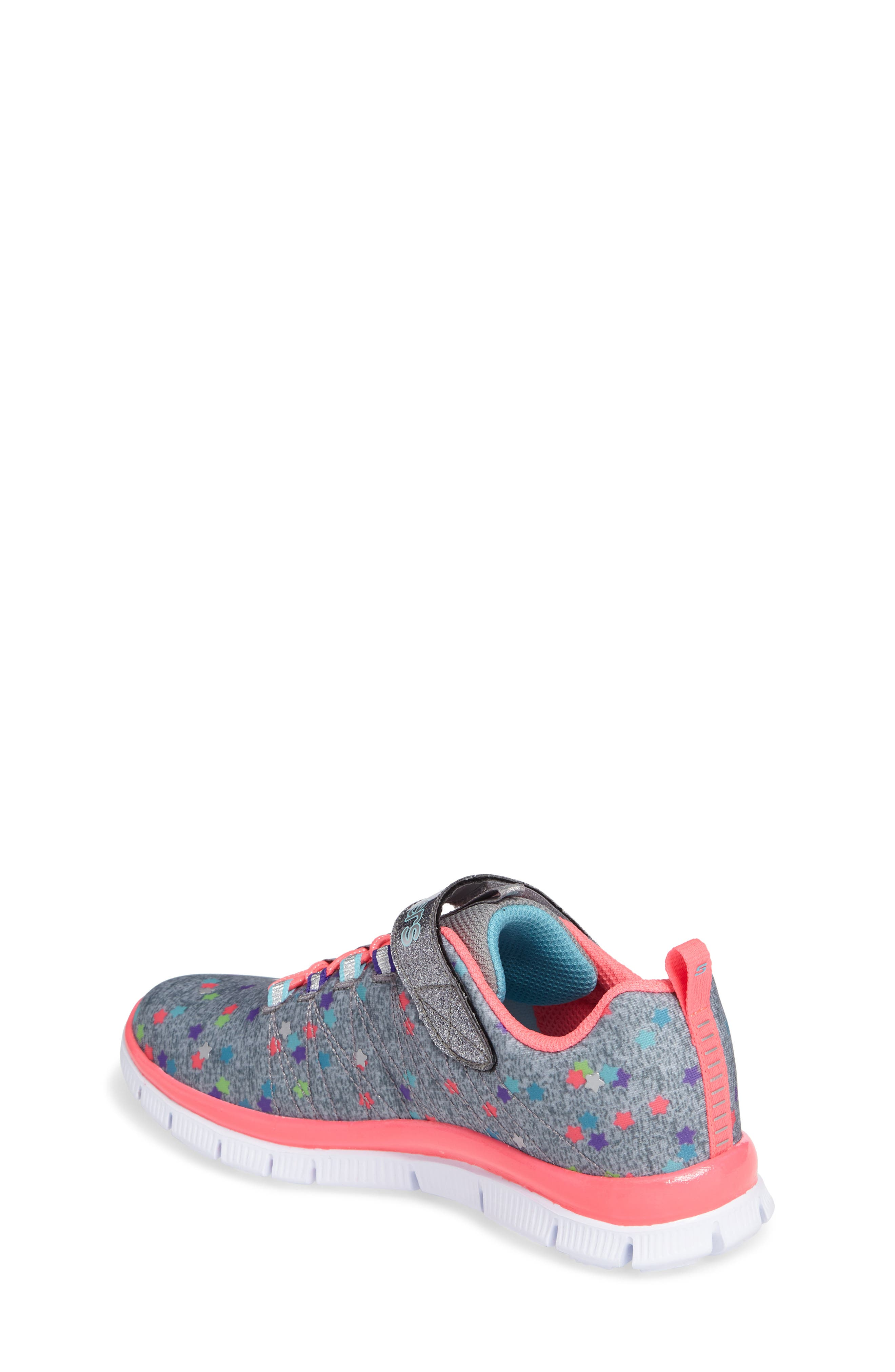Skech Appeal Star Spirit Sneaker,                             Alternate thumbnail 2, color,                             Grey/ Multi
