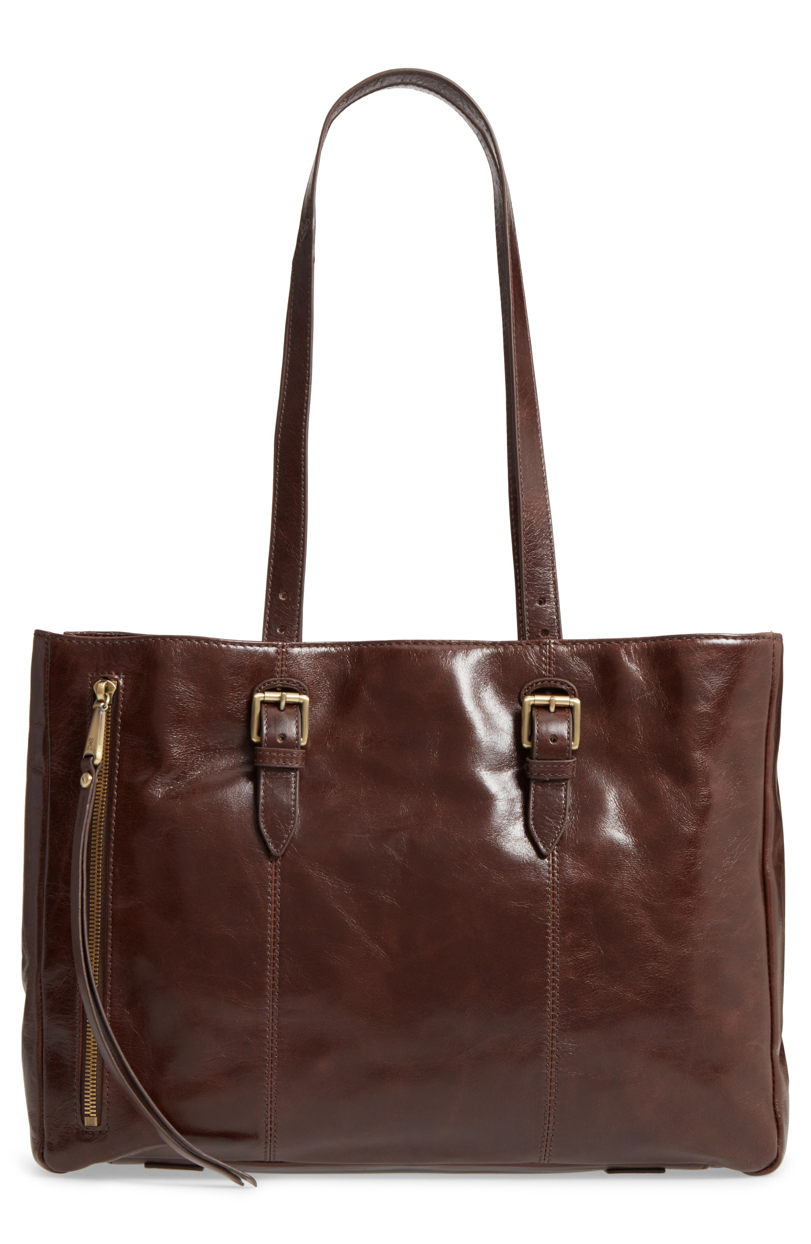 Cabot Calfskin Leather Tote,                             Main thumbnail 1, color,                             Espresso