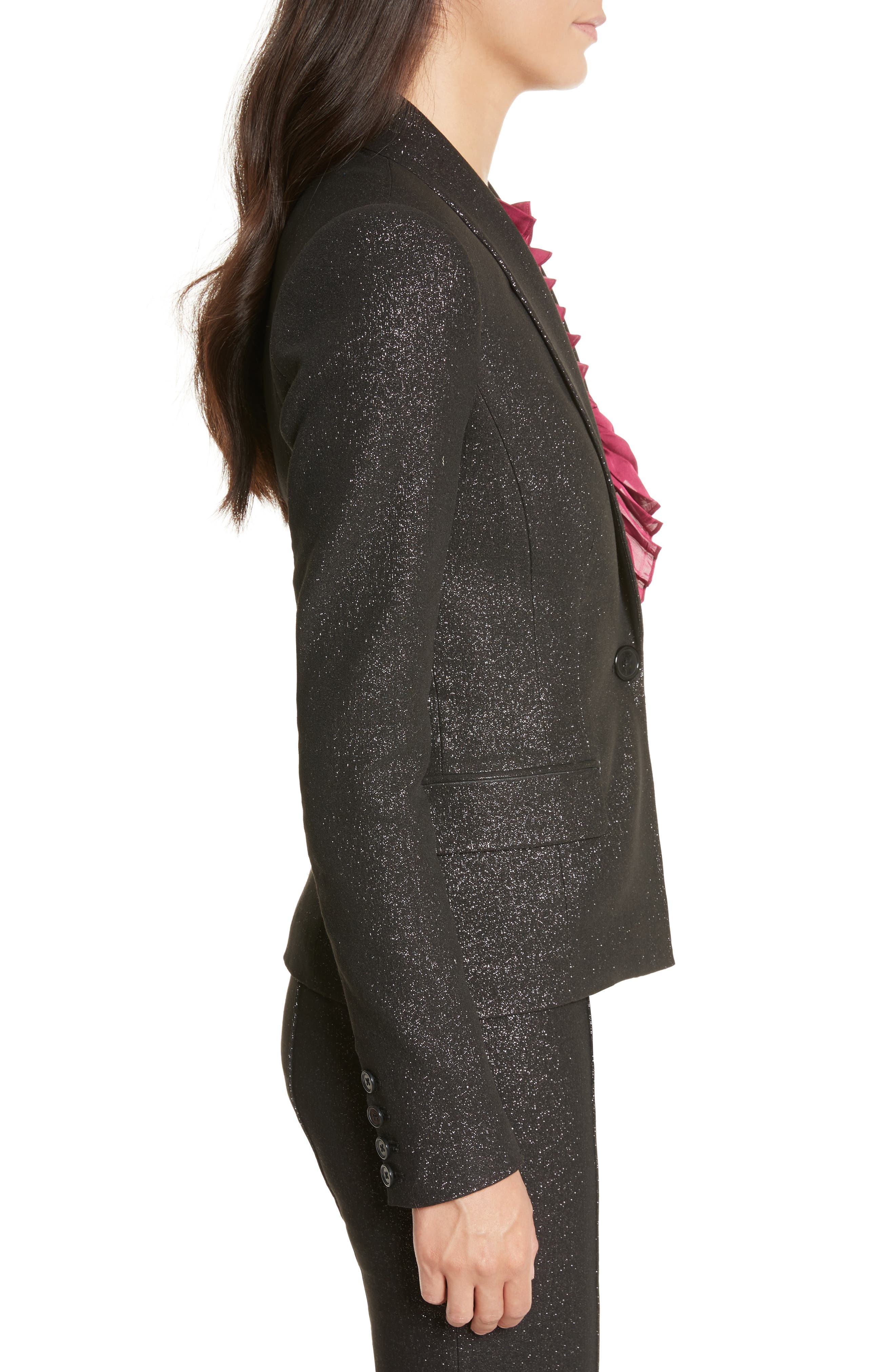 Alternate Image 3  - Tracy Reese Metallic Shawl Blazer
