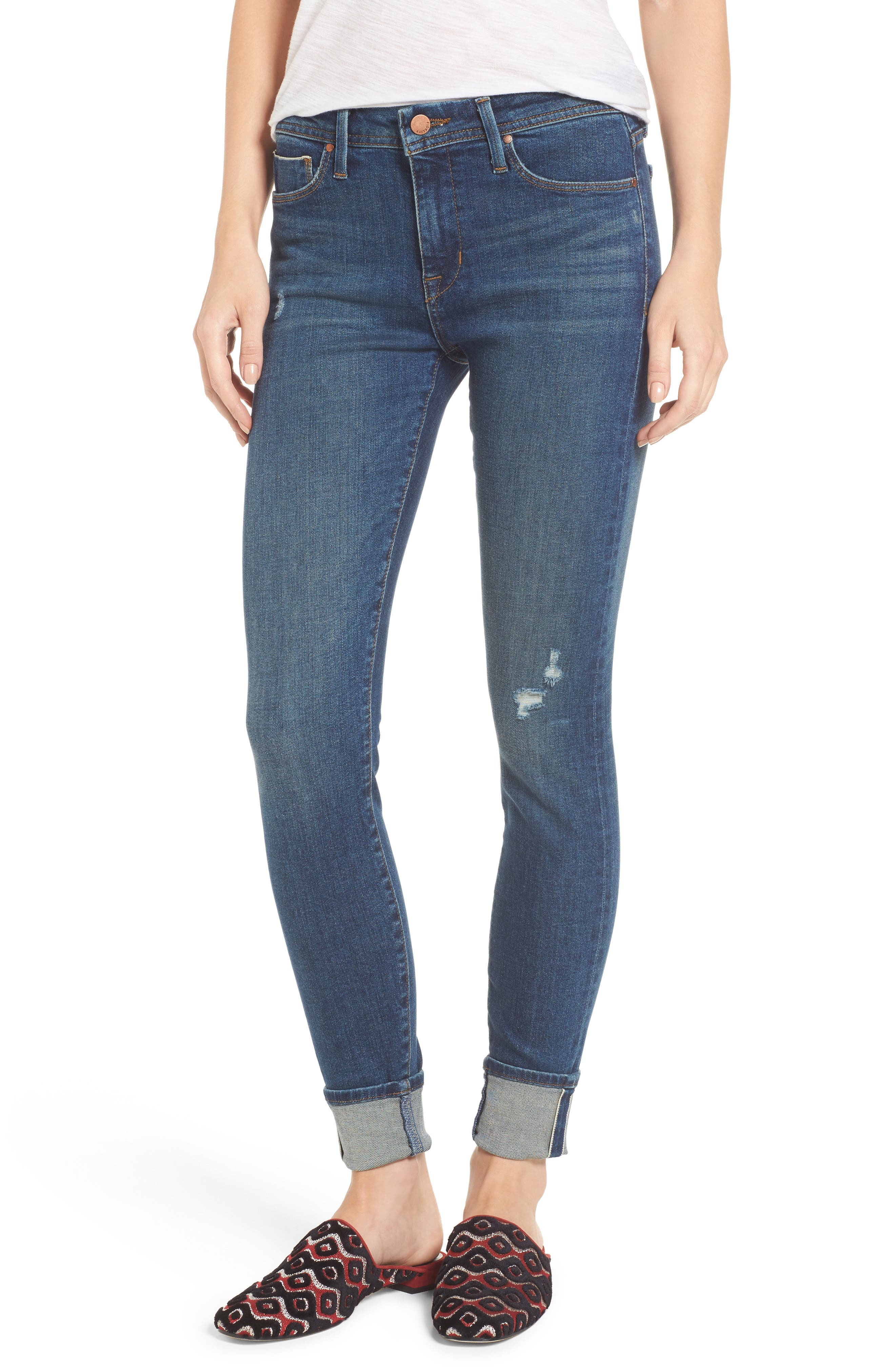 Main Image - Fidelity Denim Belvedere Crop Skinny Jeans (8 Year Aged)