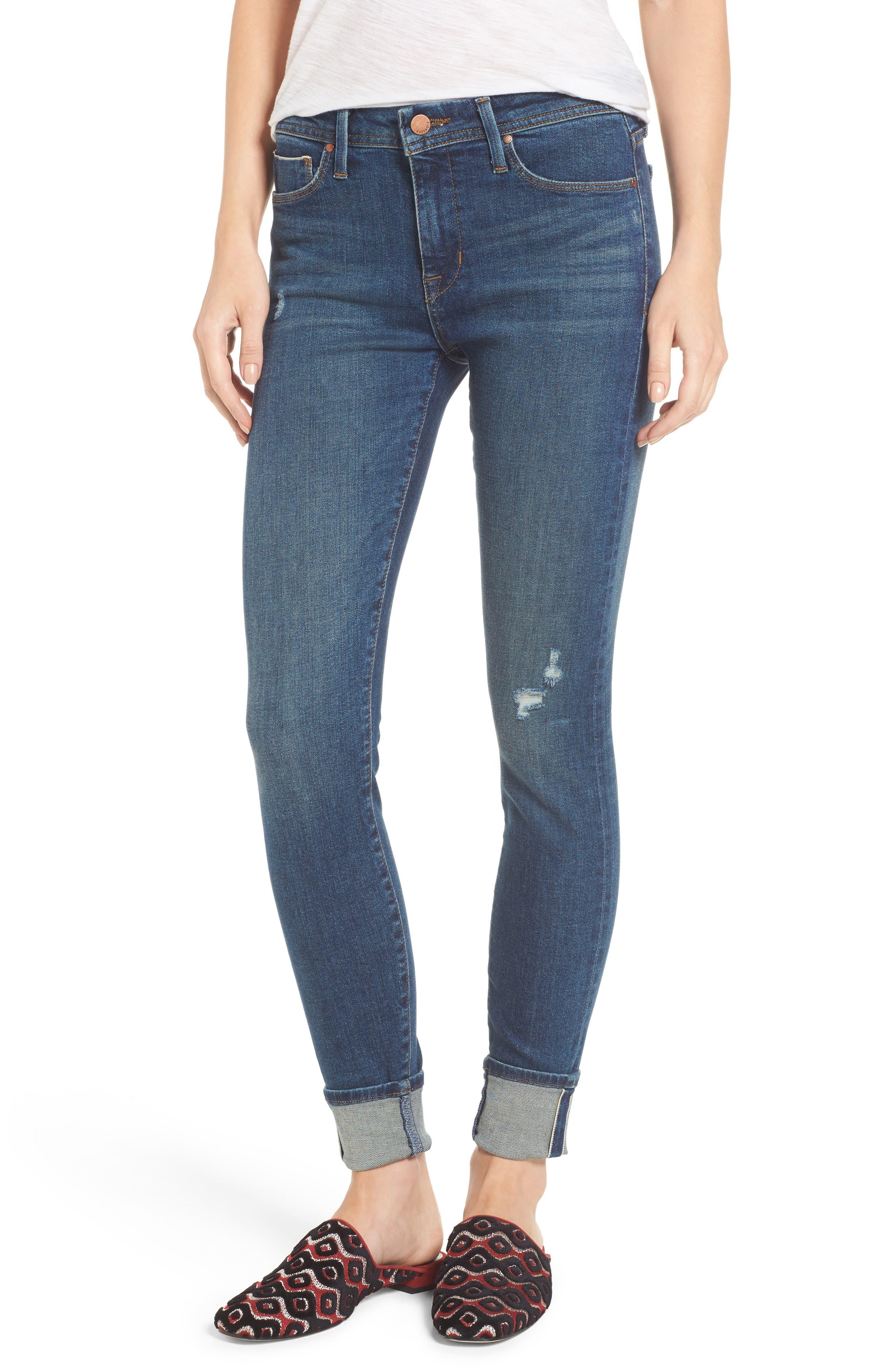 Fidelity Denim Belvedere Crop Skinny Jeans (8 Year Aged)