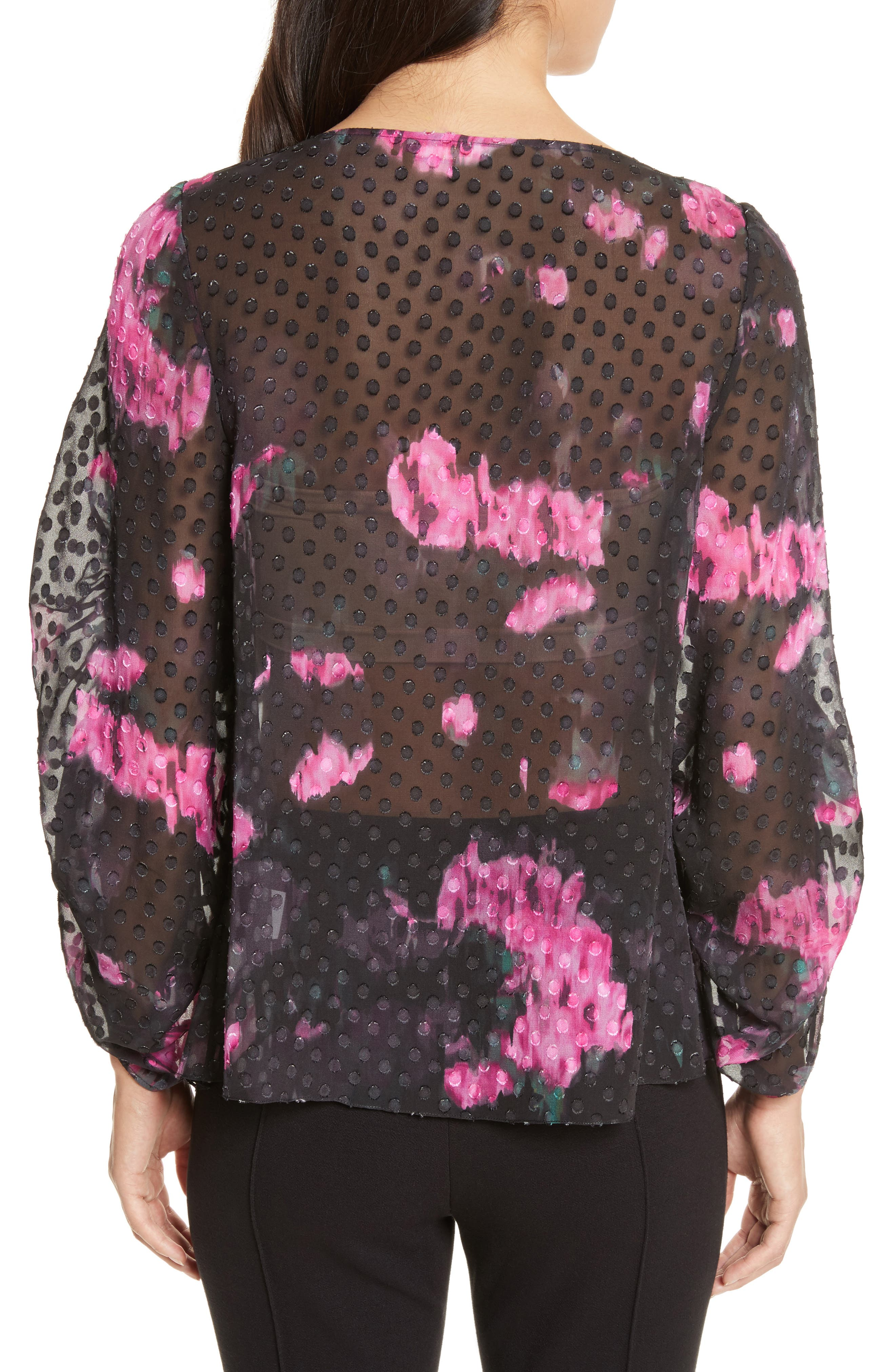 Alternate Image 2  - Tracy Reese Floral Silk Blouse