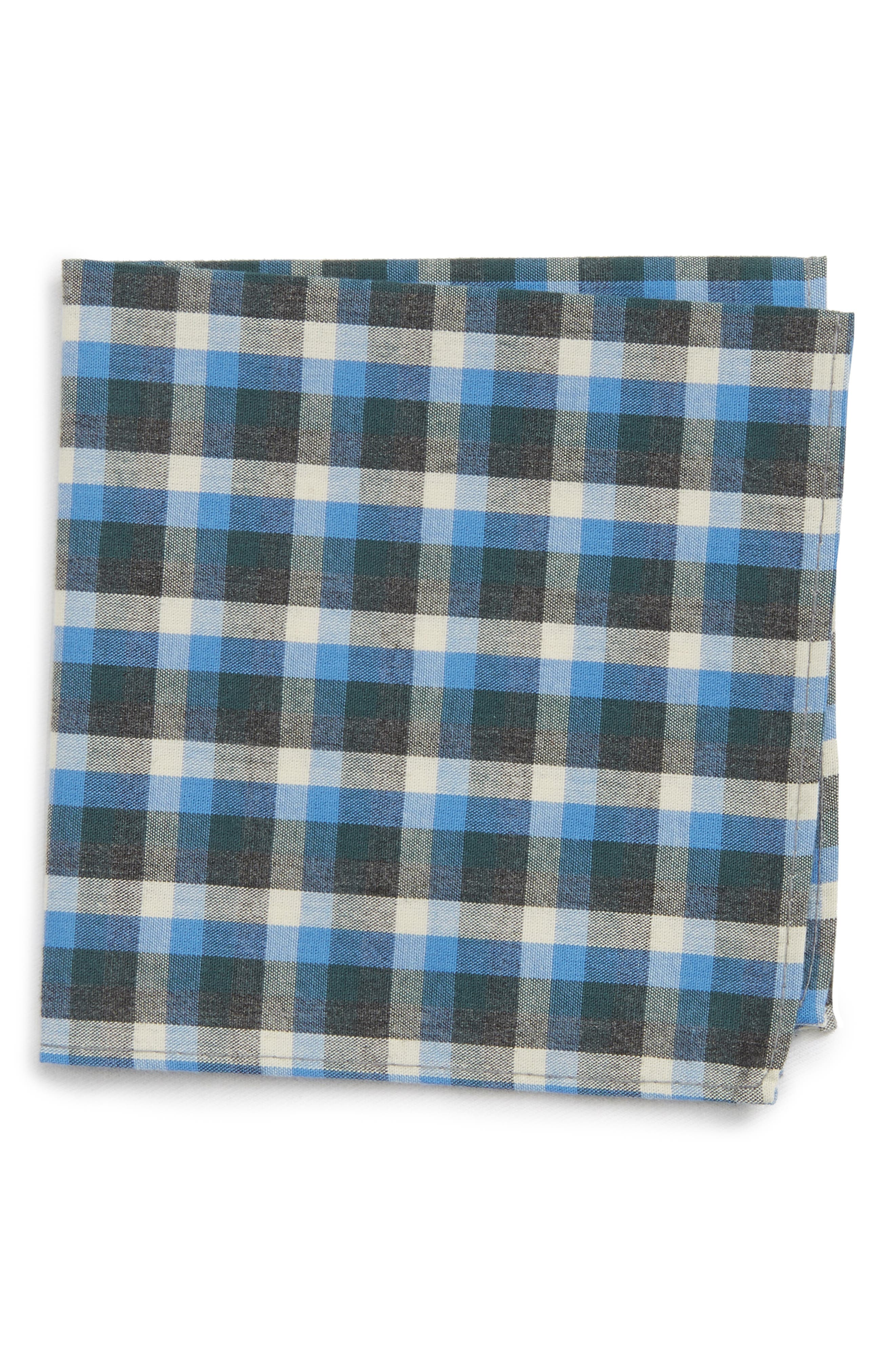 Nordstrom Check Silk Pocket Square (Big Boys)