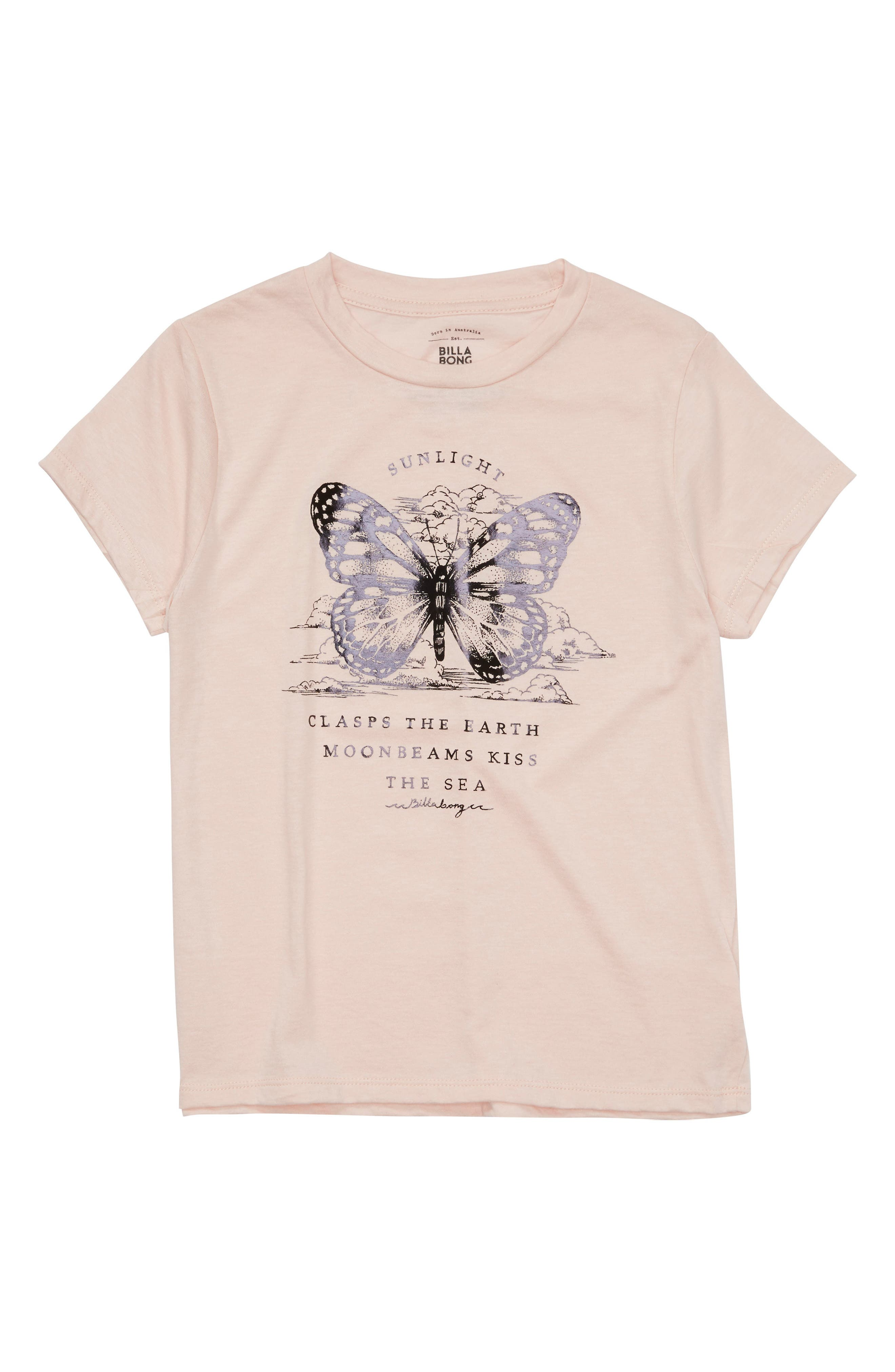 Butterfly Graphic Tee,                         Main,                         color, Pink Mist