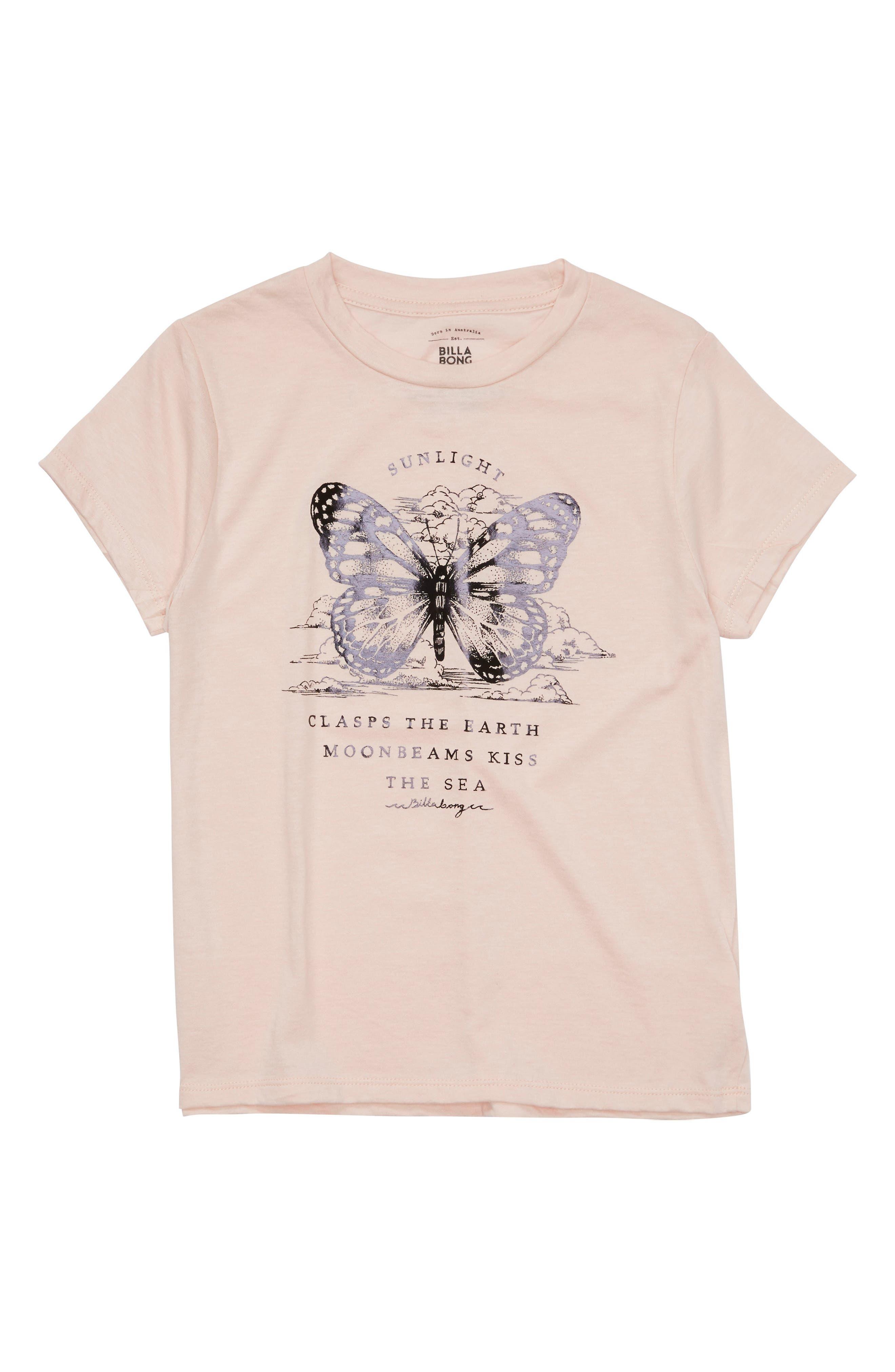 Billabong Butterfly Graphic Tee (Little Girls & Big Girls)