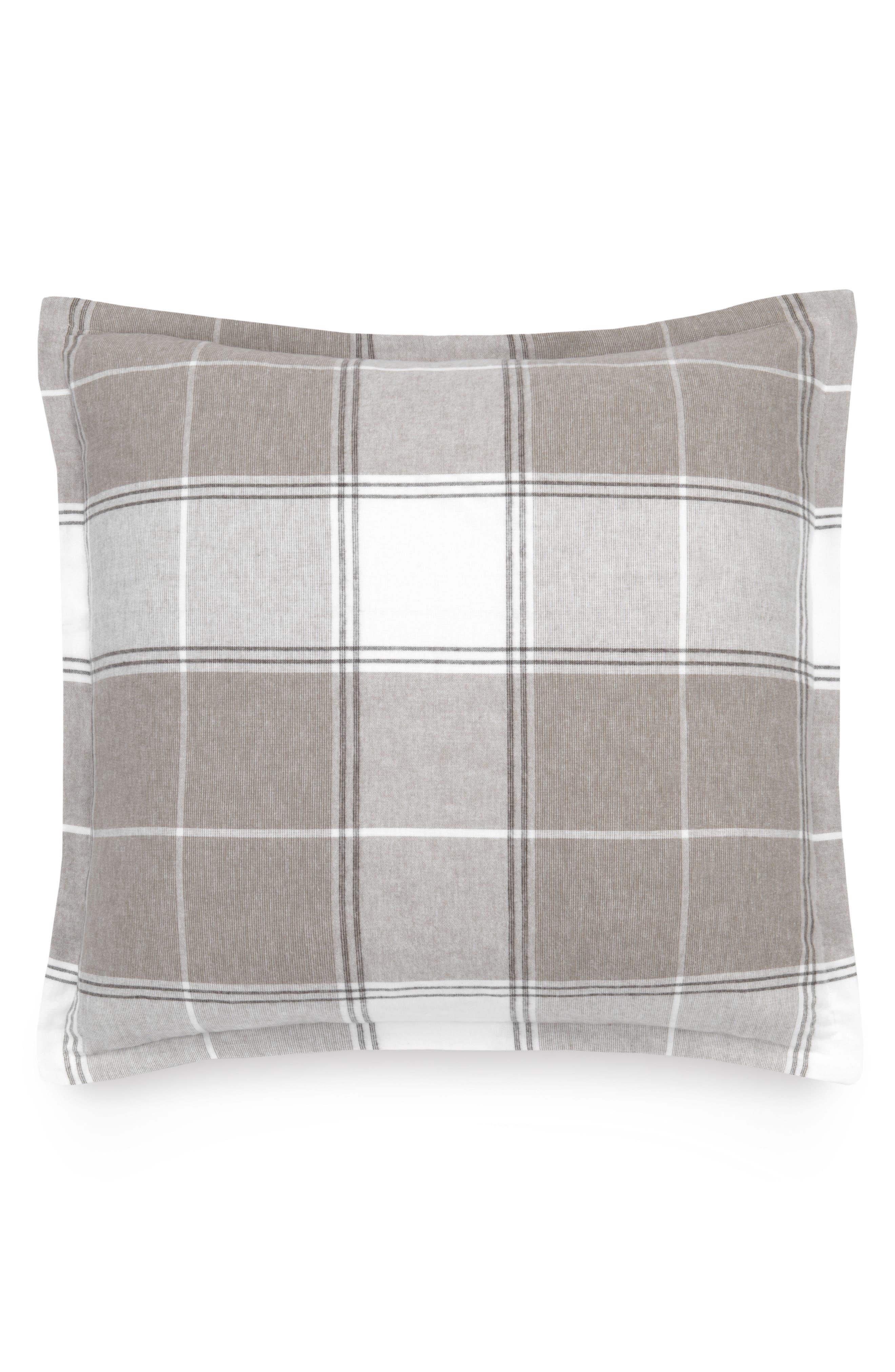 Flannel Luxe Euro Sham,                         Main,                         color, Doeskin Multi