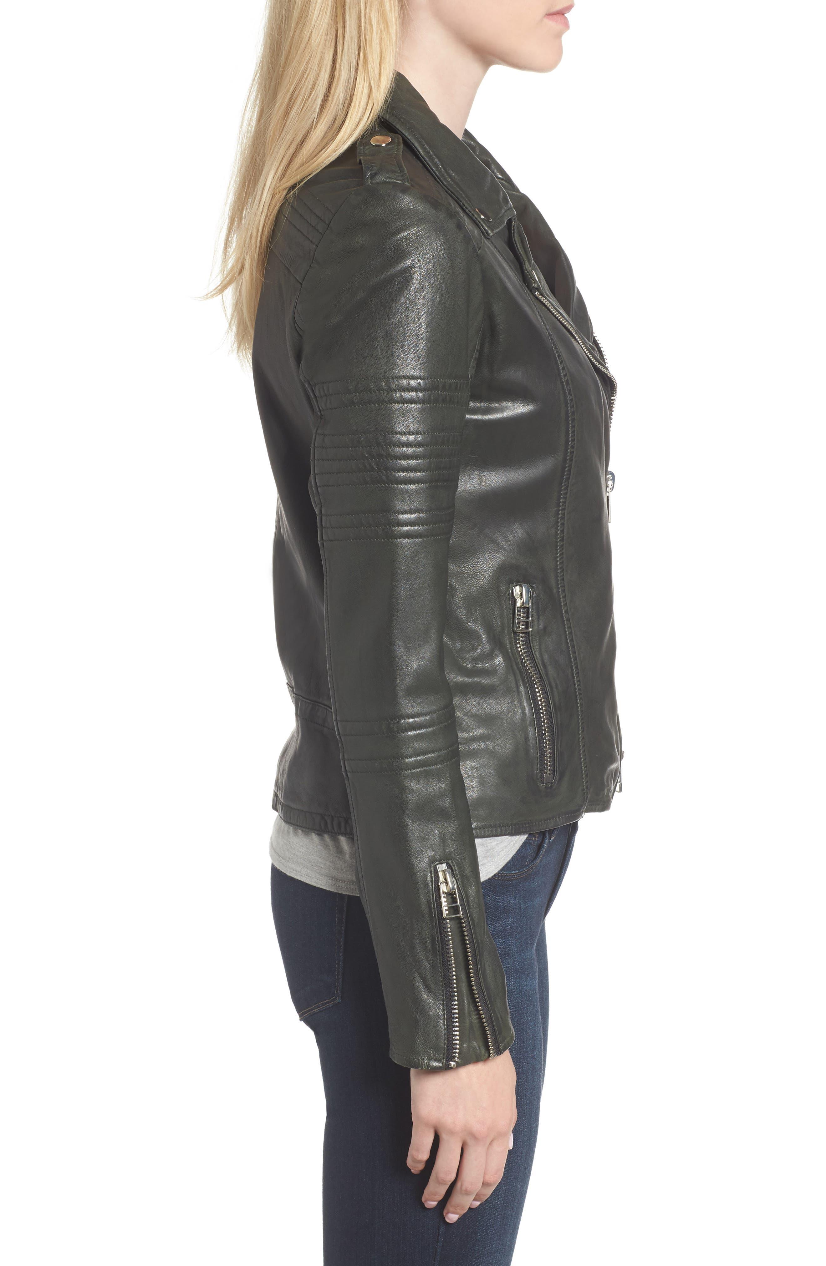 Alternate Image 3  - Goosecraft Double Zip Moto Jacket