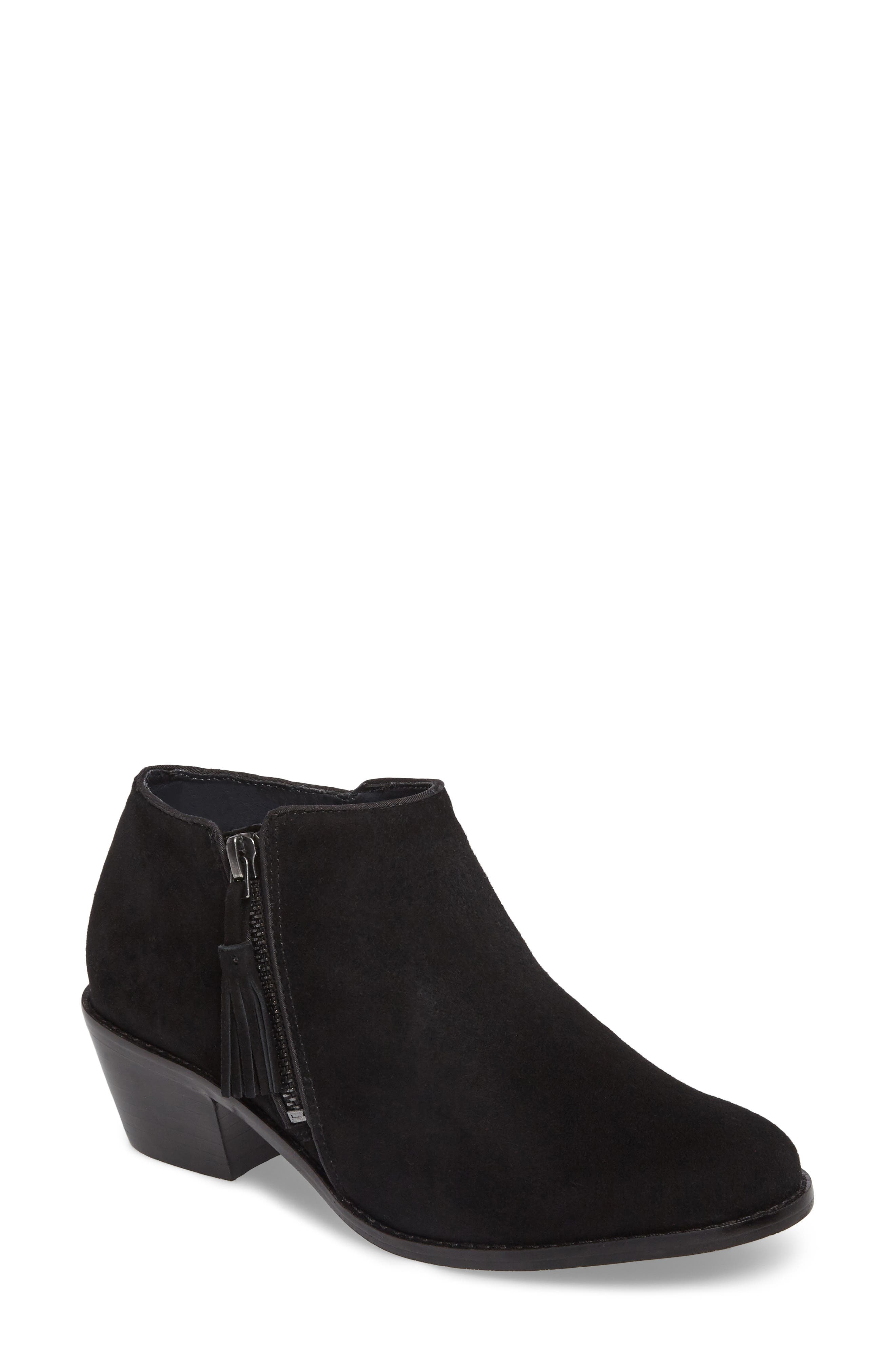 Serena Ankle Boot,                             Main thumbnail 1, color,                             Black Suede