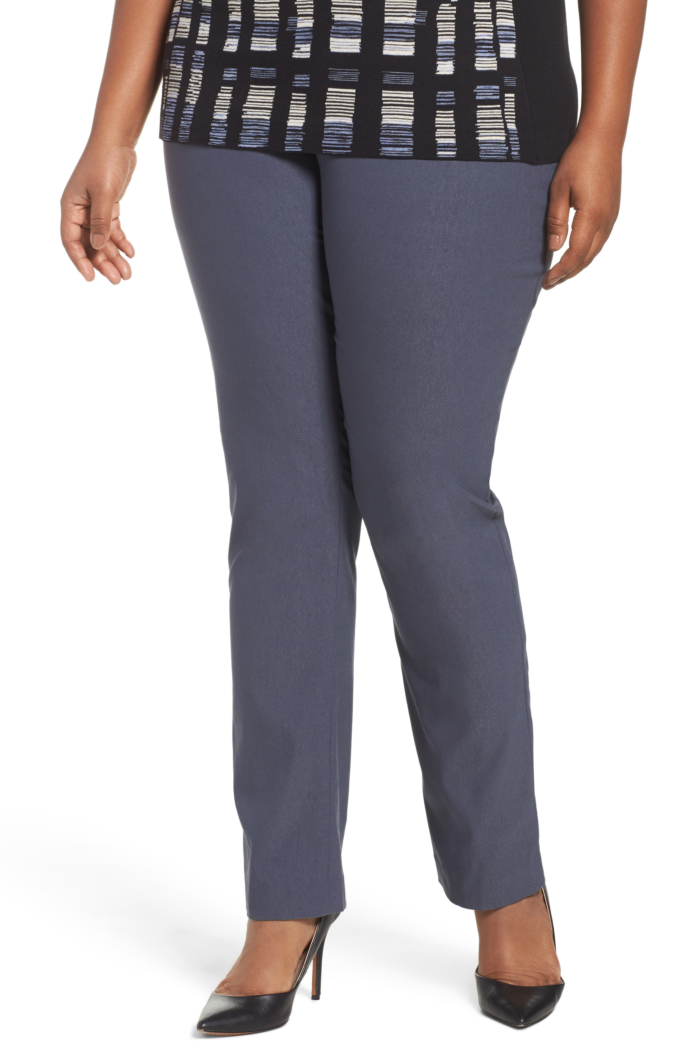NIC+ZOE Wonder Stretch Straight Leg Pants (Plus Size)