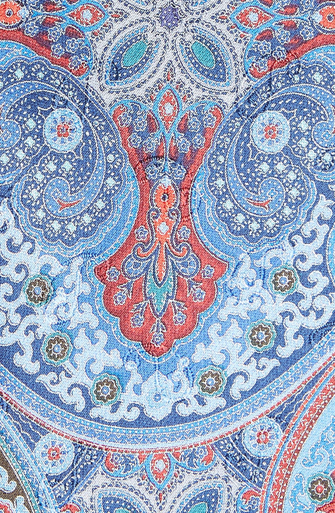 Quindici Paisley Silk Tie,                             Alternate thumbnail 2, color,                             Navy