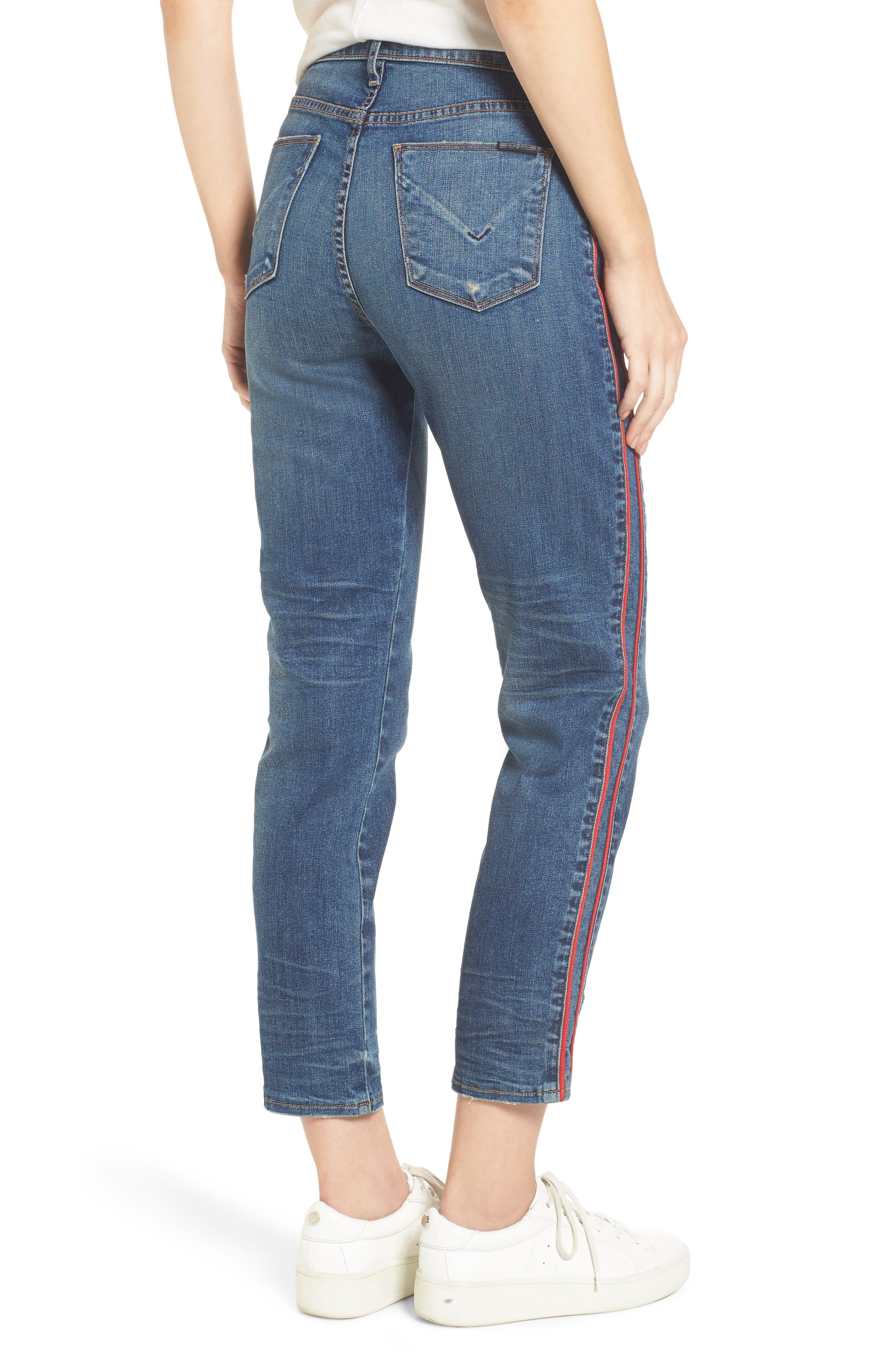 Zoeey High Waist Crop Jeans,                             Alternate thumbnail 2, color,                             Reform