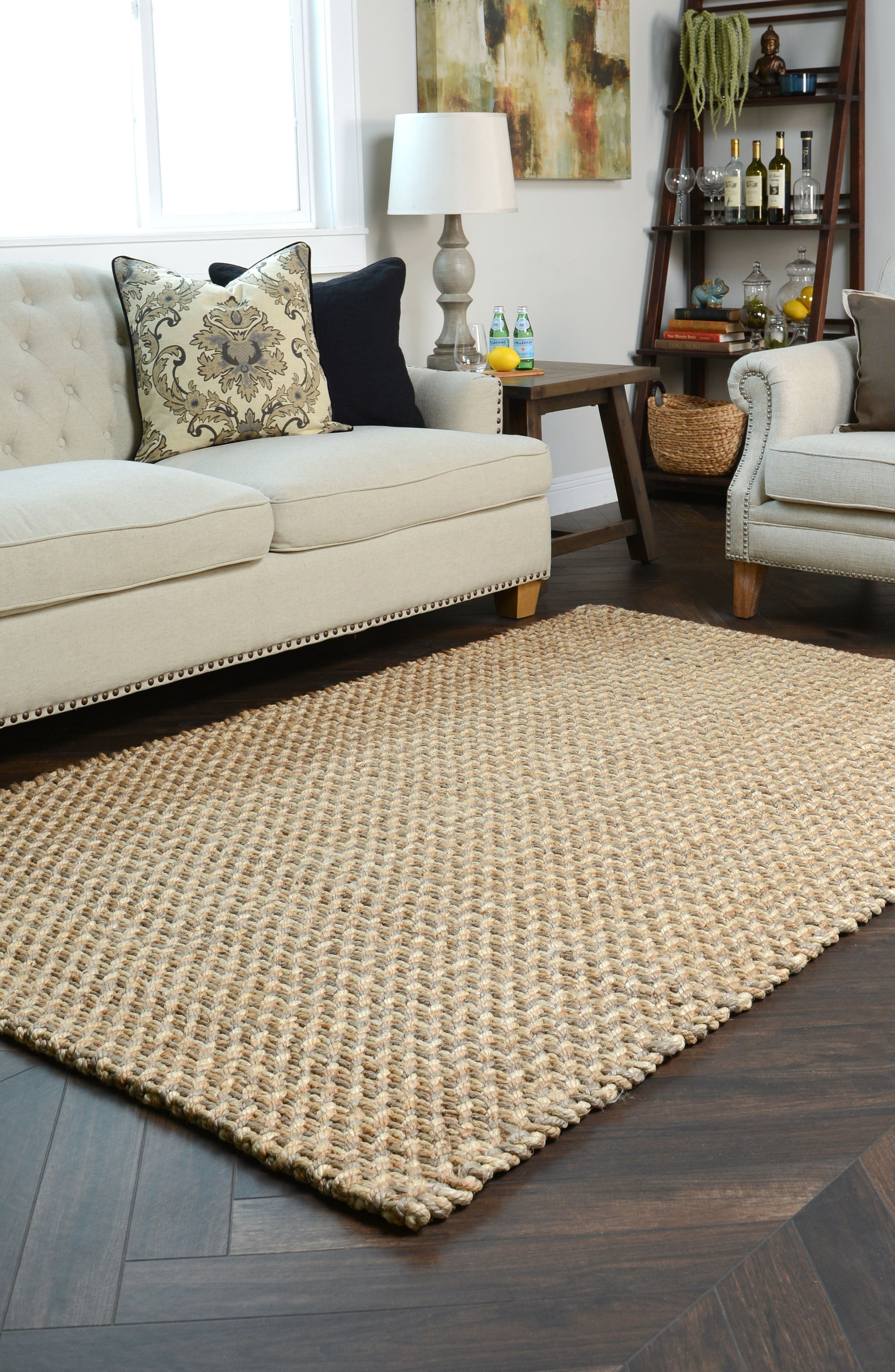 Ladera Handwoven Rug,                             Alternate thumbnail 4, color,                             Natural/ Bleach