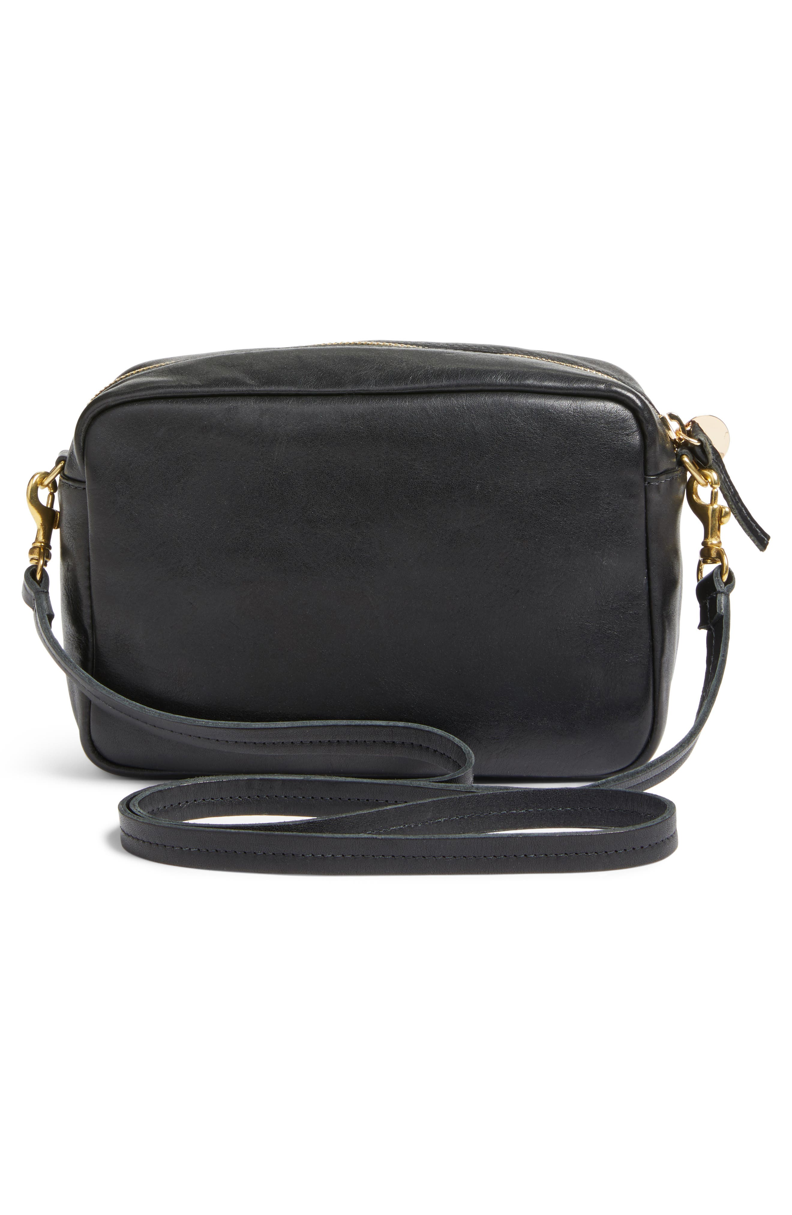 Midi Sac Leather & Genuine Calf Hair Shoulder Bag,                             Alternate thumbnail 3, color,                             Agave Leopard